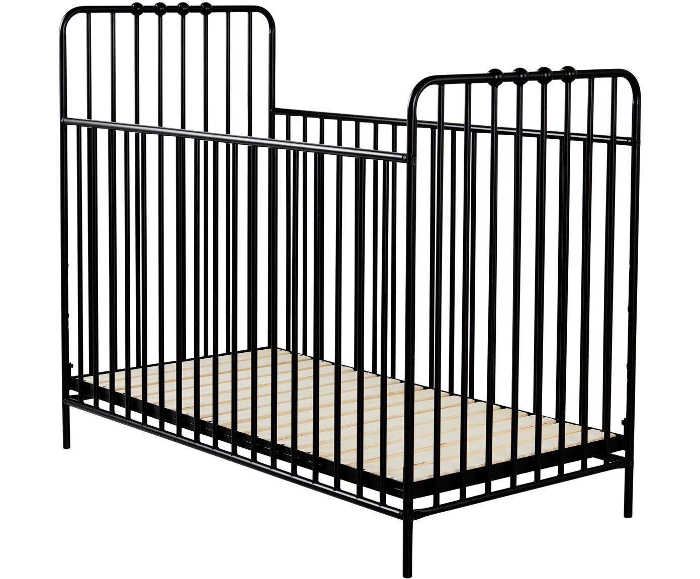 Baby-Bett Bexley, Schwarz, 60 x 120 cm