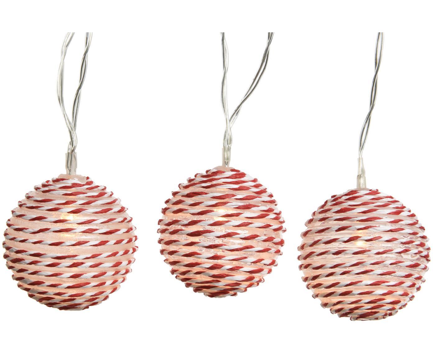 LED-Lichterkette Batt, Kunststoff, Weiß, Rot, L 180 cm