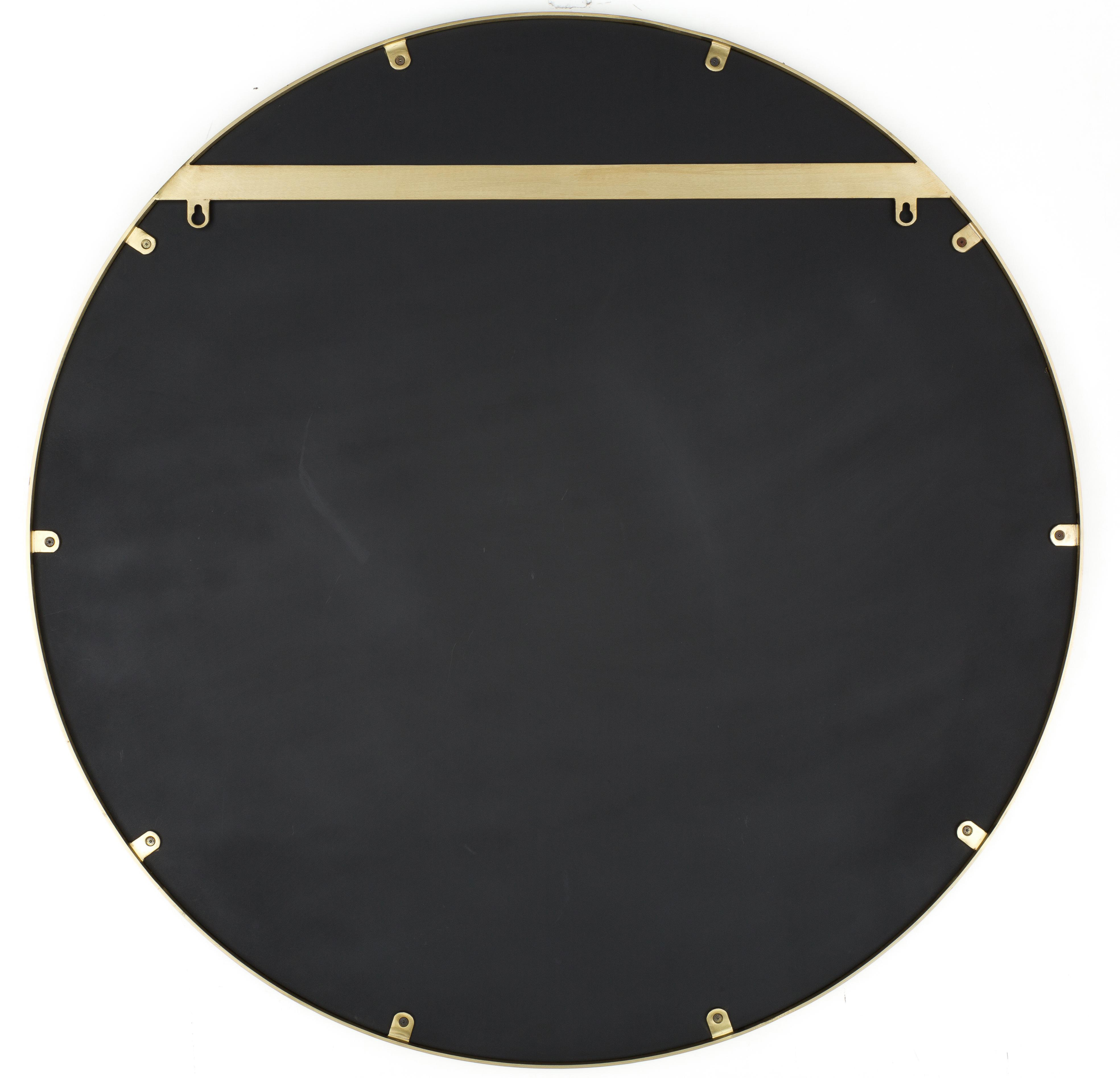 Okrągłe lustro ścienne Ada, Mosiądz, szczotkowany, Ø 60 cm