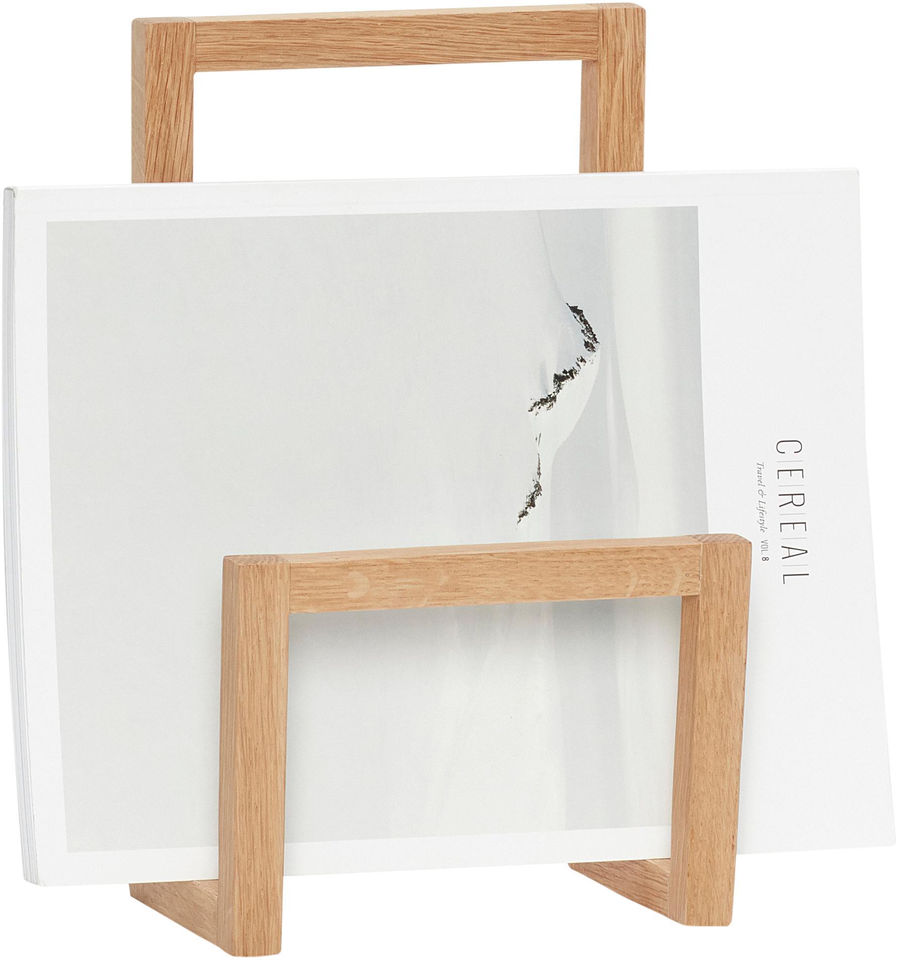 Wandtijdschriftenhouder Klamer, Eikenhout, Eikenhoutkleurig, 17 x 27 cm