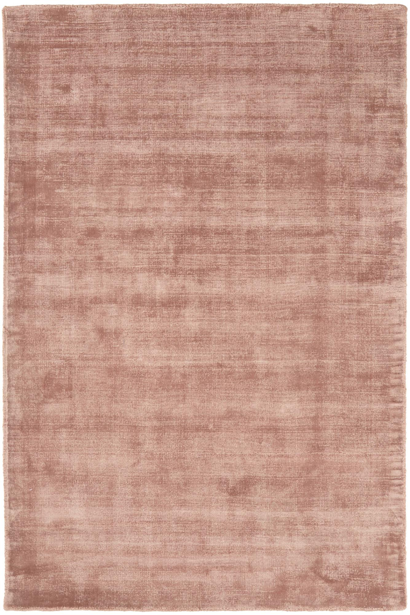 Tappeto in viscosa tessuto a mano Jane, Retro: 100% cotone, Terracotta, Larg. 120 x Lung. 180 cm (taglia S)