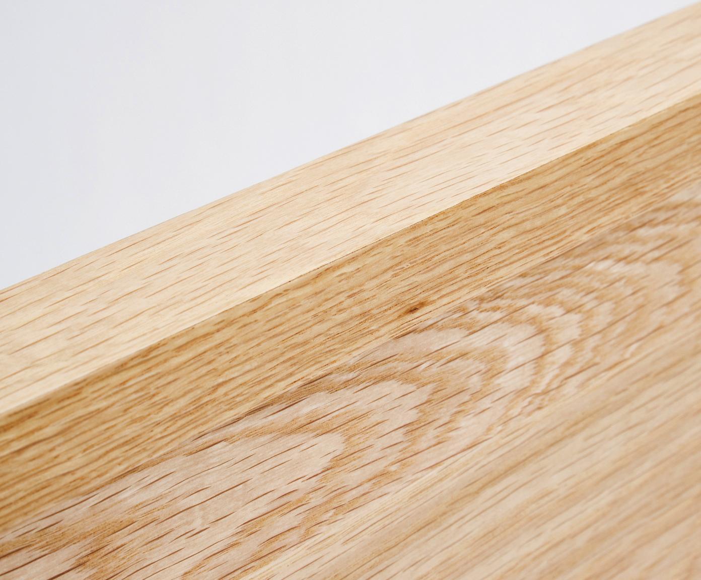 Łóżko z drewna bez zagłówka Tammy, Stelaż: sklejka z fornirem z drew, Nogi: lite drewno dębowe, Drewno dębowe, 180 x 200 cm