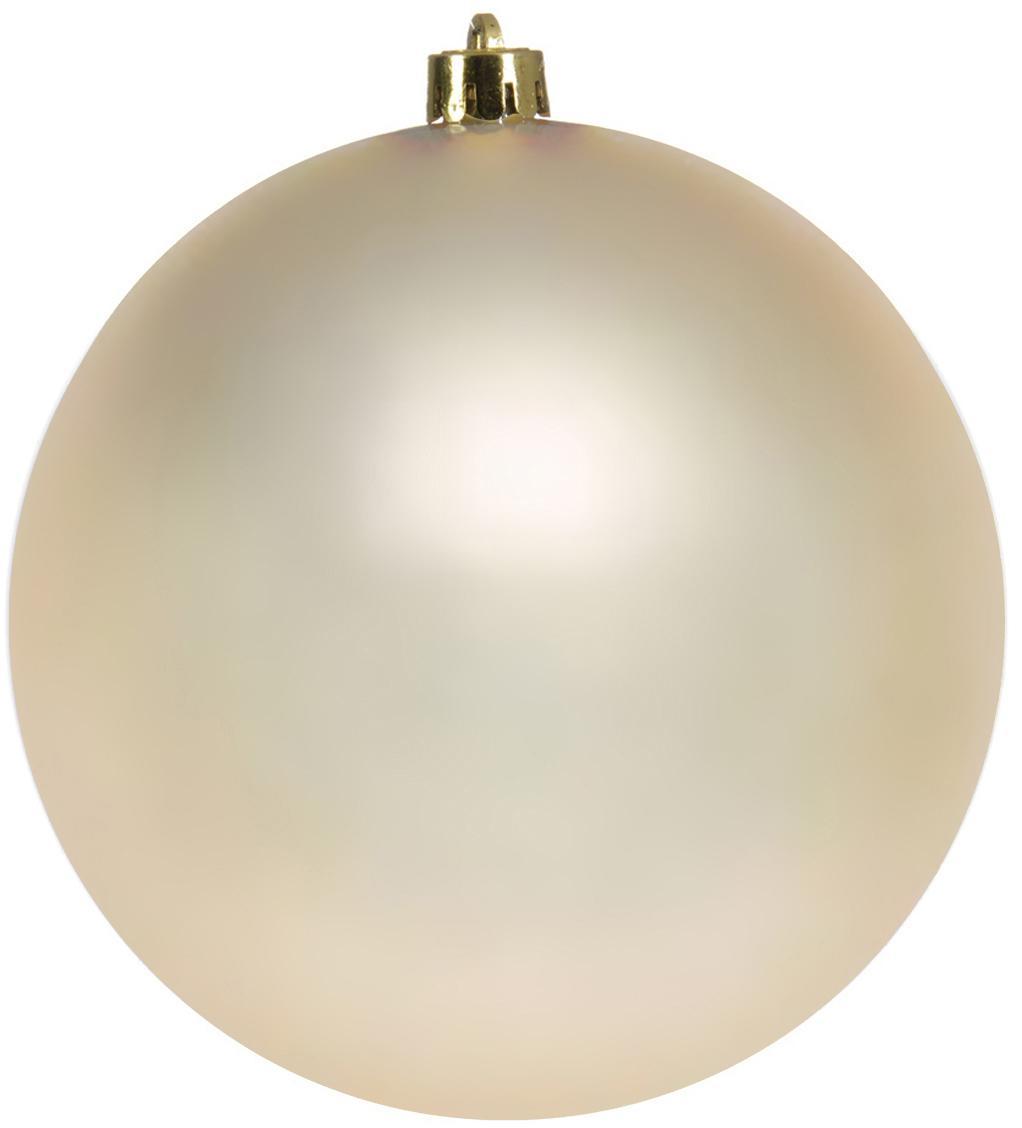 Palla di Natale Minstix Ø 14 cm, 2 pz, Materiale sintetico, Beige, Ø 14 cm