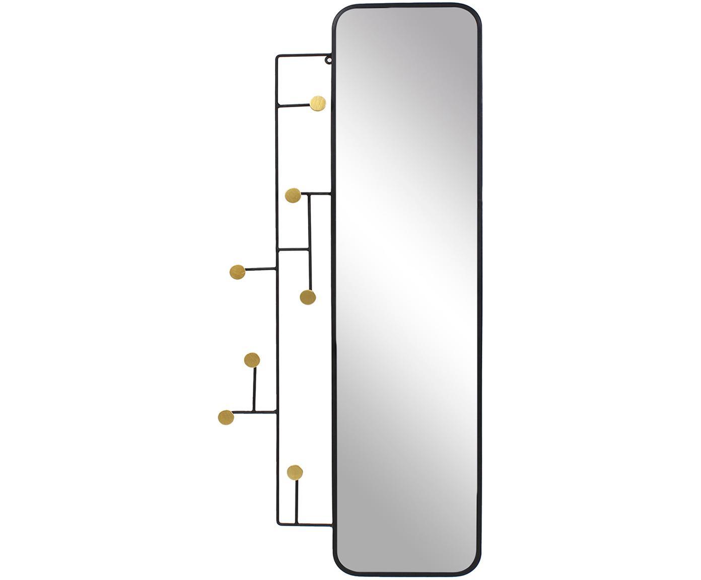 Espejo de pared Korbit, Negro, dorado, An 49 x Al 112 cm