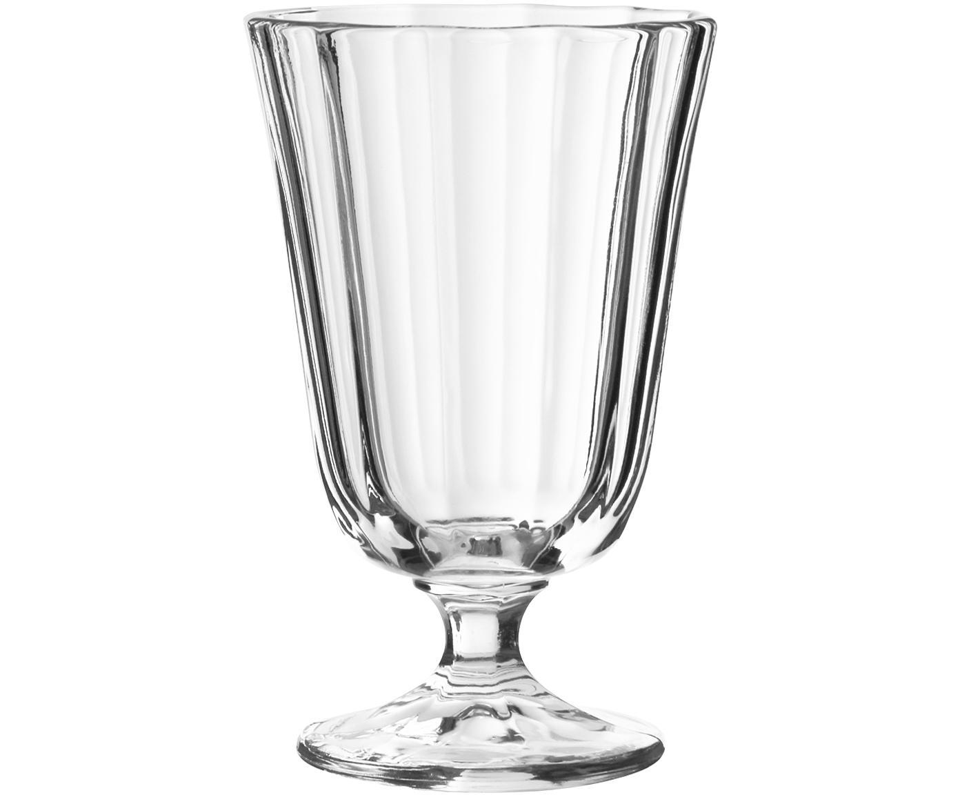 Kleine wijnglazen Ana in landelijke stijl, 12-delig, Glas, Transparant, 195 ml