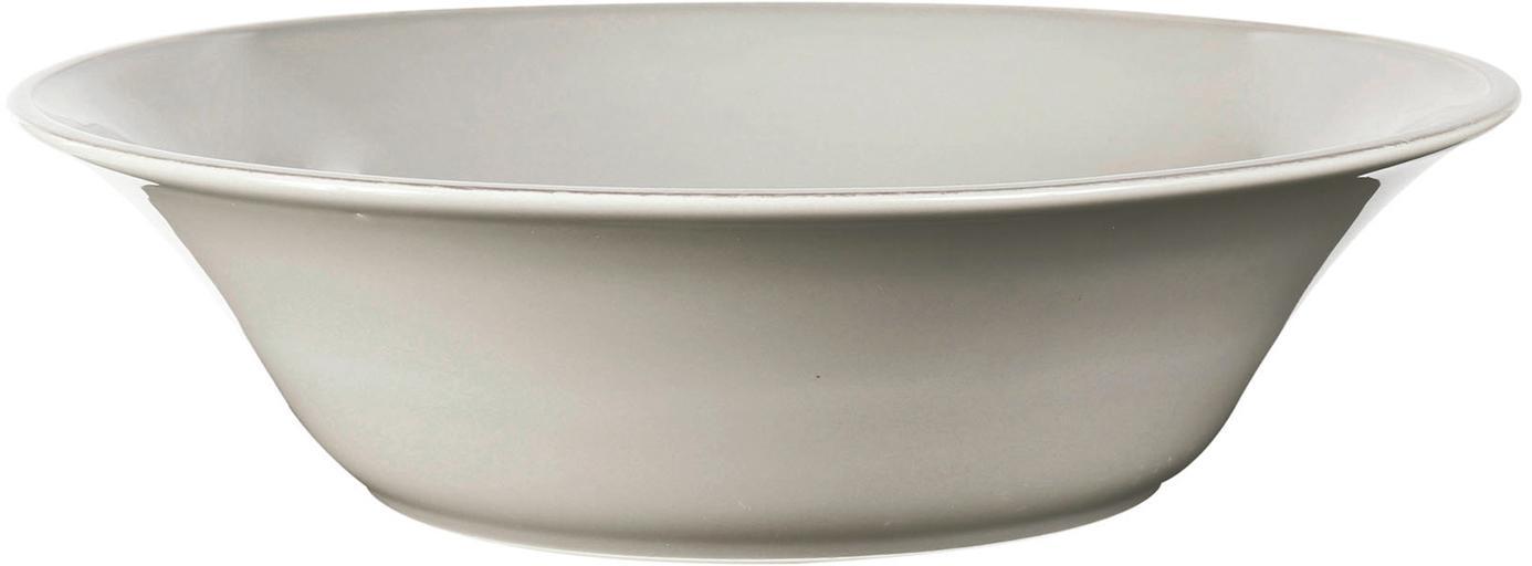 Insalatiera color grigio chiaro  Costanza, Terracotta, Grigio chiaro, Ø 30 x Alt. 9 cm