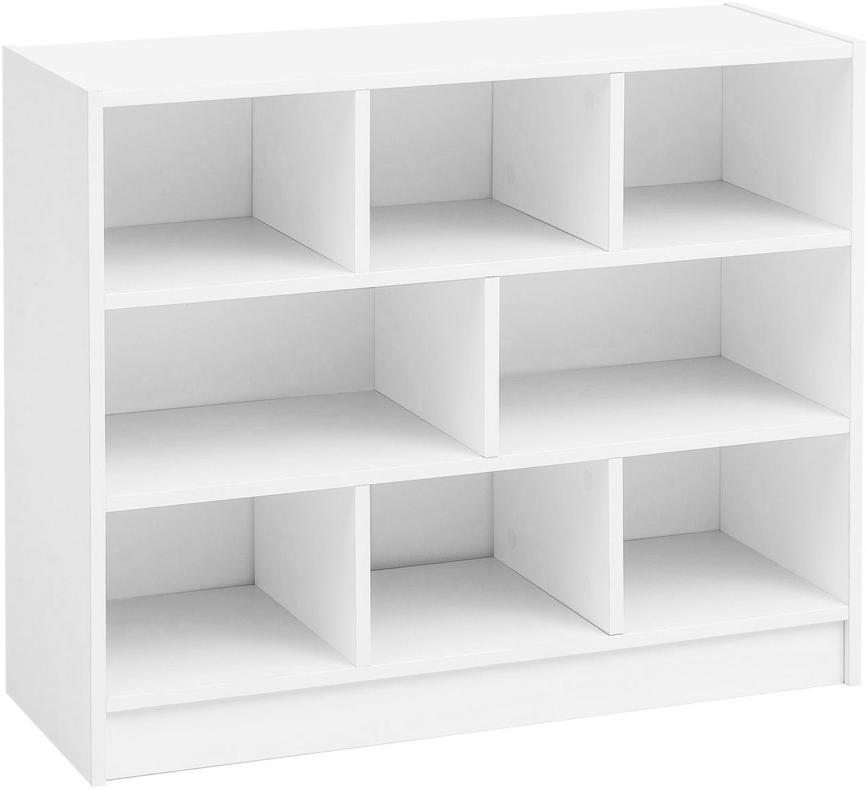 Estantería Milo, Estante: aglomerado recubierto de , Blanco, An 80 x Al 69 cm