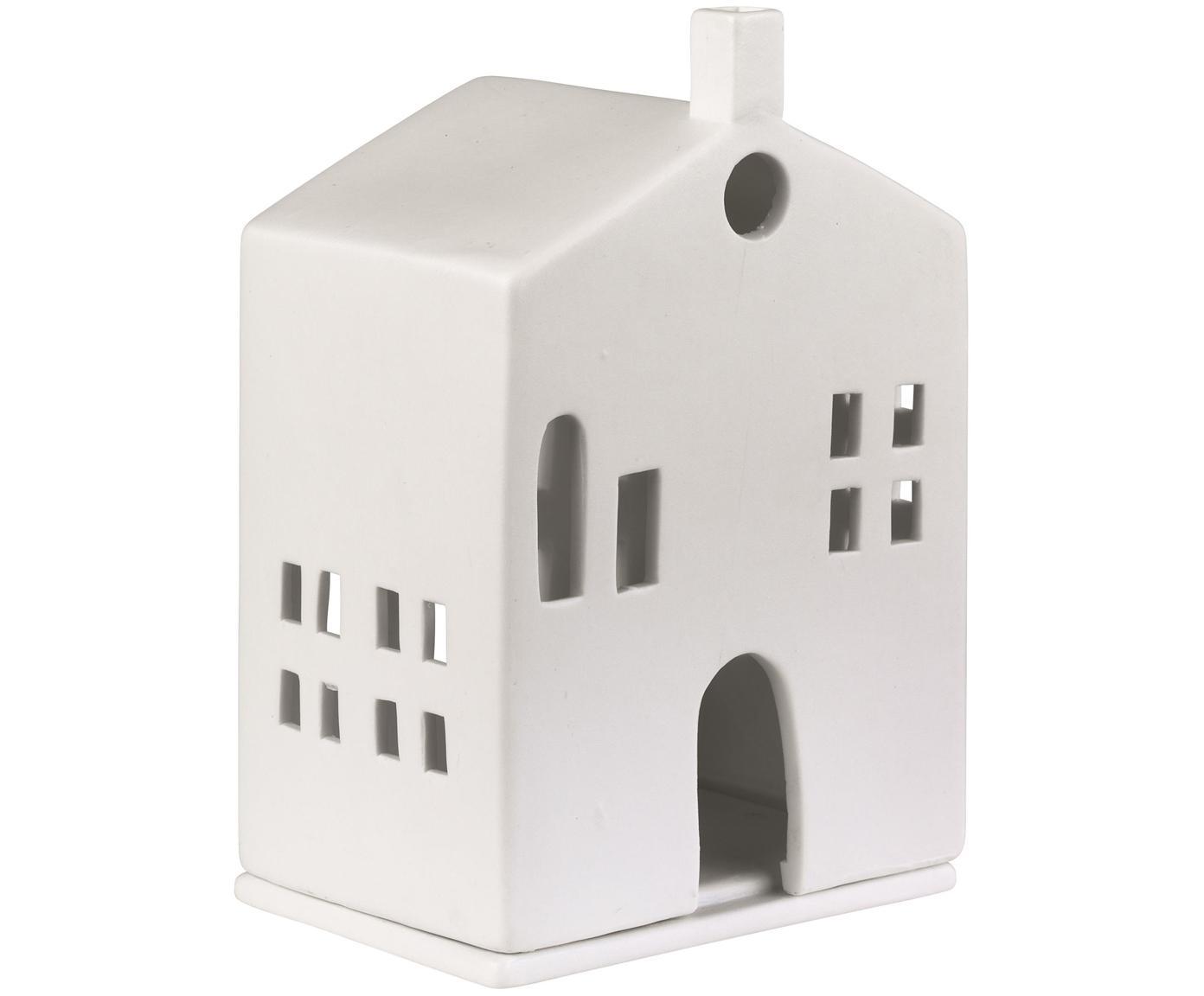 Teelichthalter Building, Porzellan, Weiss, 10 x 15 cm