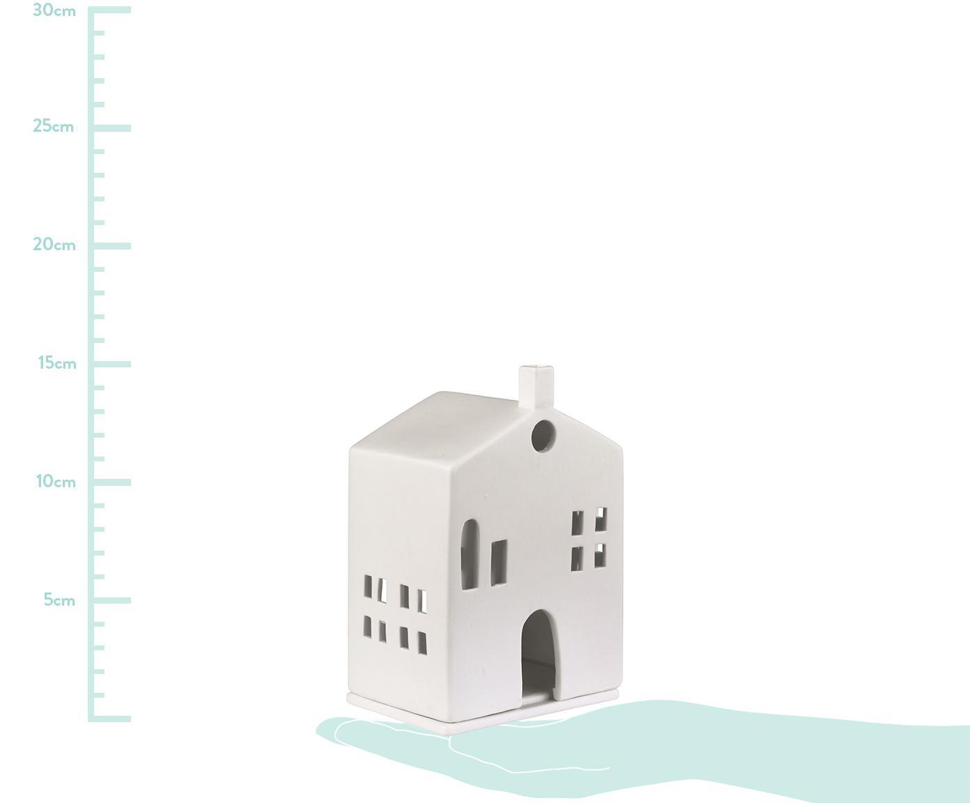 Lampion Building, Porcelana, Biały, S 10 x W 15 cm