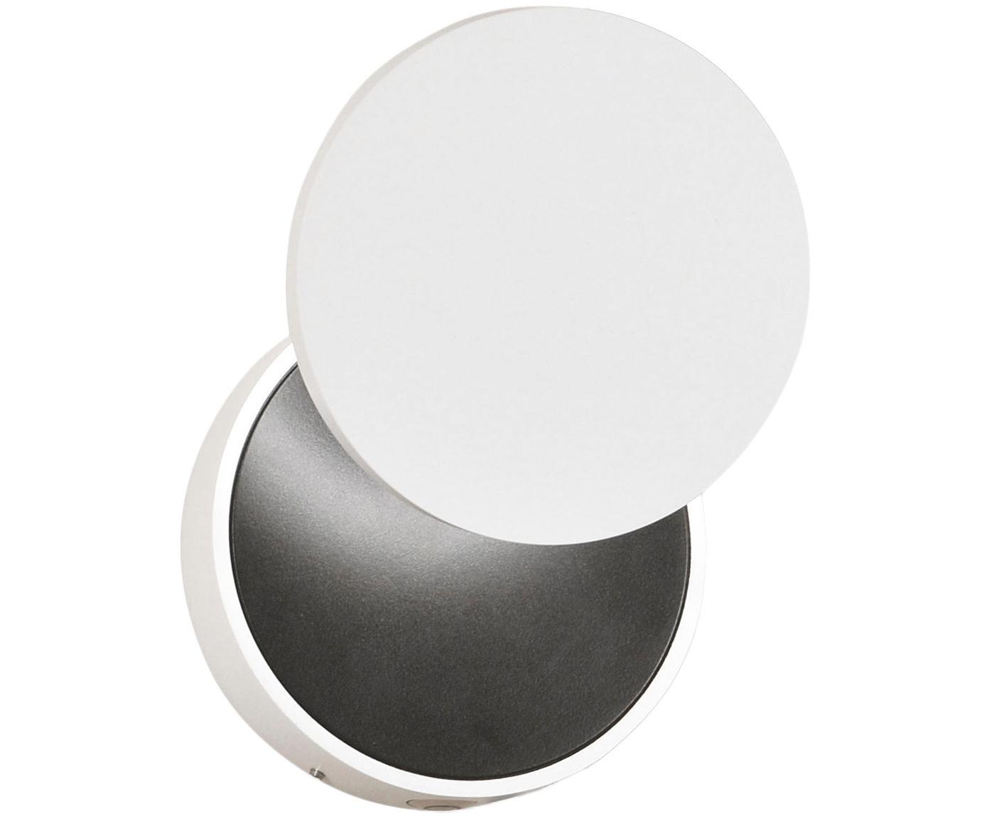 Kinkiet z funkcją przyciemniania Ara, Biały, czarny, Ø 12 x W 18 cm