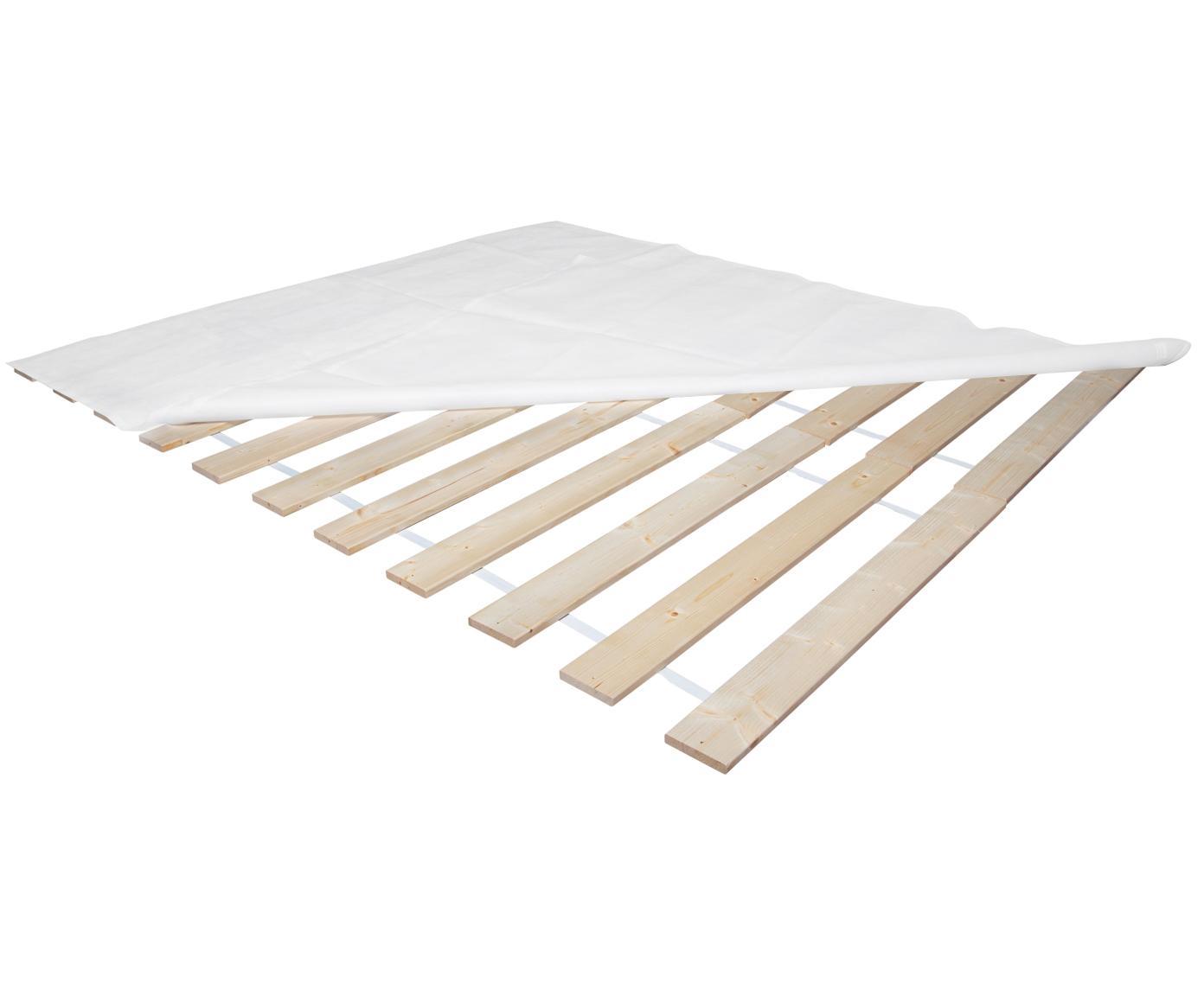 Rollrost 2er-Set Juan Carlos, Leisten: Massives Tannenholz, Leisten: Helles HolzAbdeckung: weiß, 160 x 200 cm