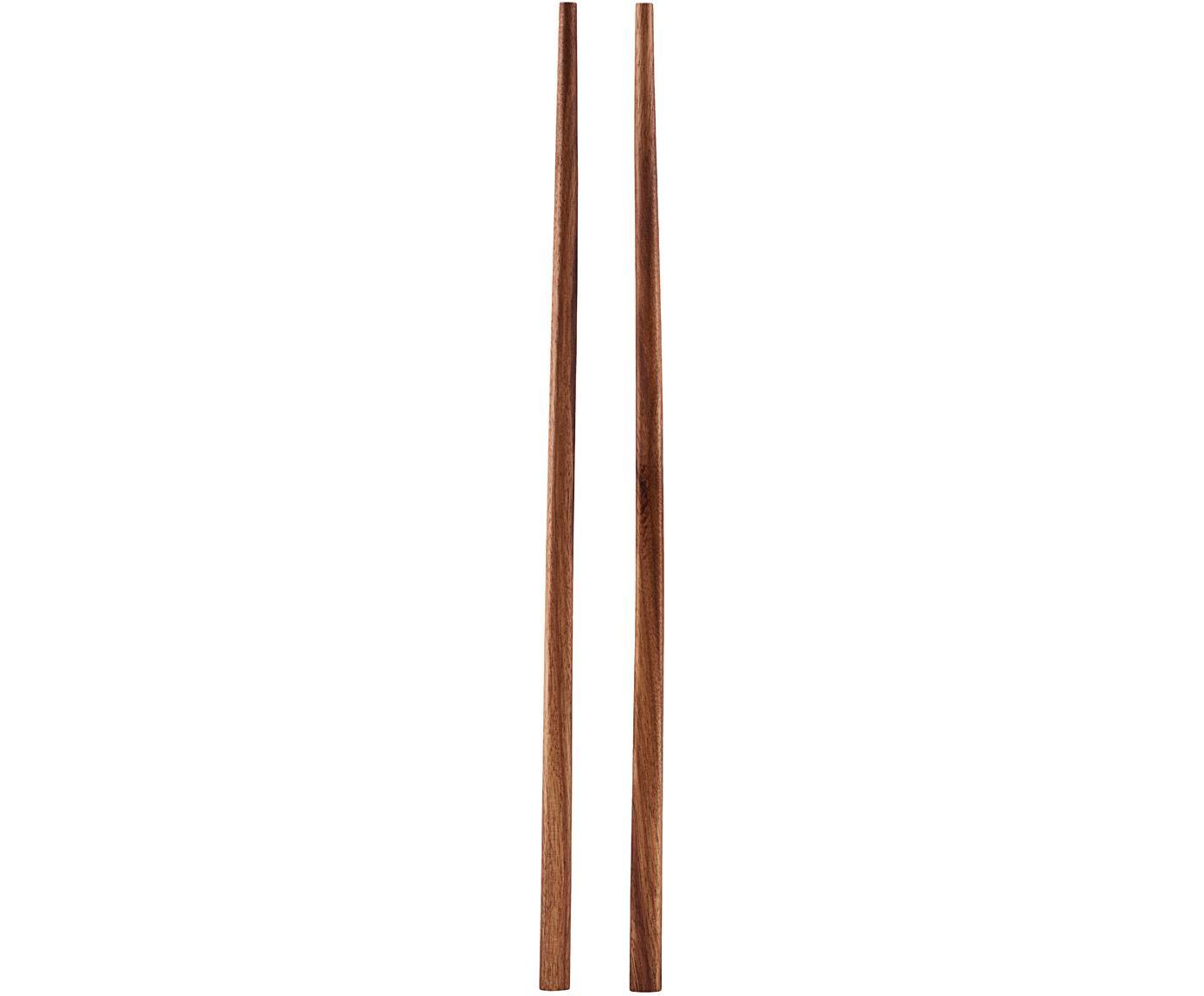 Palillos de madera Asia, 6uds., Madera de palawan, Madera, L 23 cm