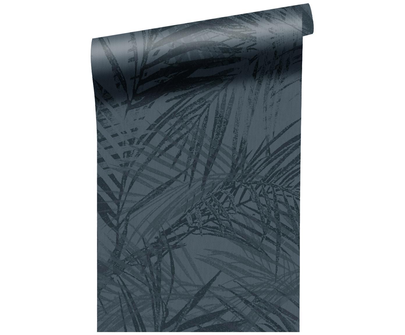 Carta da parati Summer, Vello, Blu scuro, P 52 x L 1005 cm