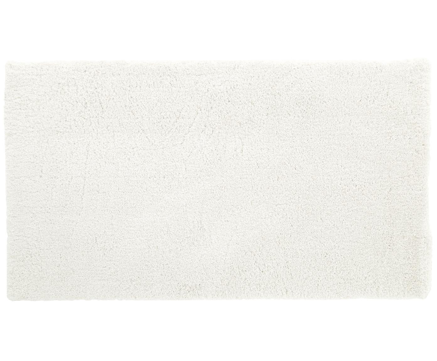 Alfombra mullida de pelo largo Leighton, Parte superior: 100%poliéster (microfibr, Reverso: 100%poliéster, Crema, An 80 x L 150 cm (Tamaño XS)