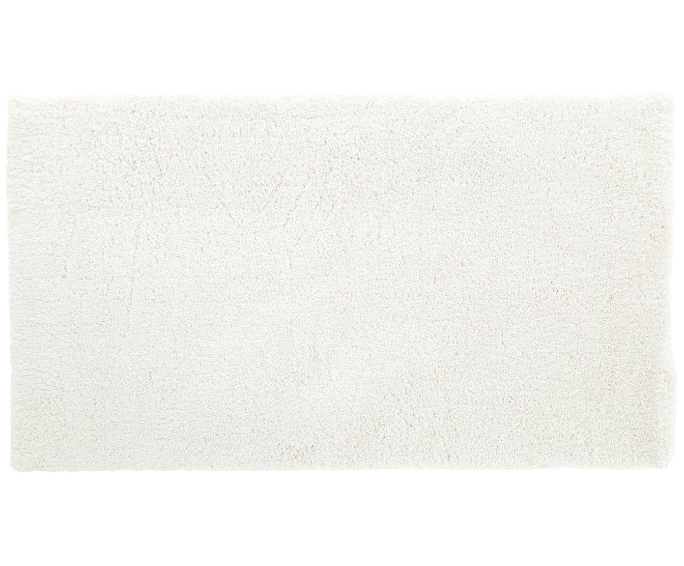 Tappeto peloso morbido color crema Leighton, Retro: 100% poliestere, Crema, Larg. 80 x Lung. 150 cm (taglia XS)