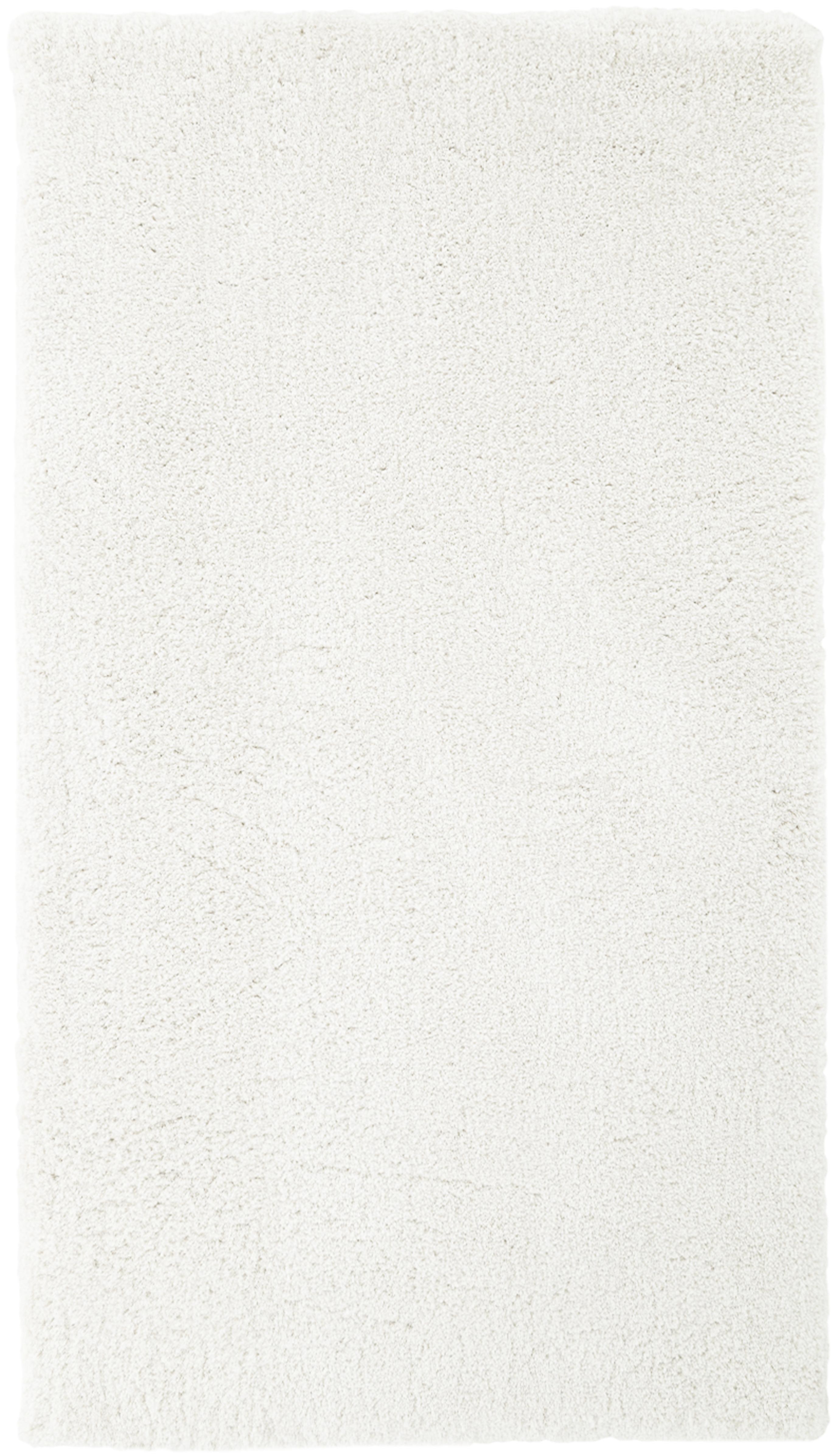Pluizig hoogpolig vloerkleed Leighton in crèmekleur, Bovenzijde: 100% polyester (microveze, Onderzijde: 70% polyester, 30% katoen, Crèmekleurig, B 80 x L 150 cm (maat XS)