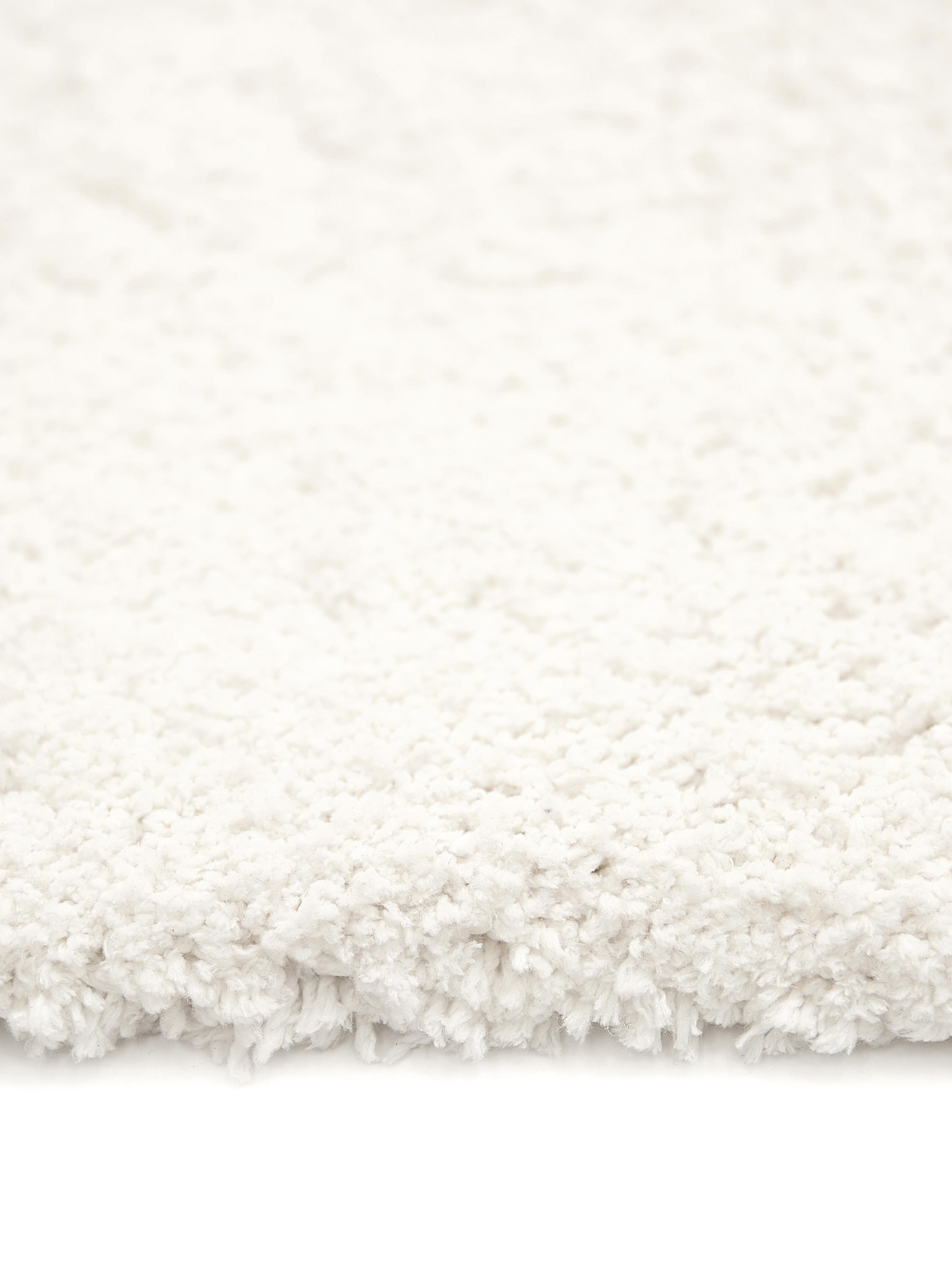 Alfombra mullida de pelo largo Leighton, Parte superior: 100%poliéster (microfibr, Reverso: 70%poliéster, 30%algodó, Crema, An 300 x L 400 cm (Tamaño XL)