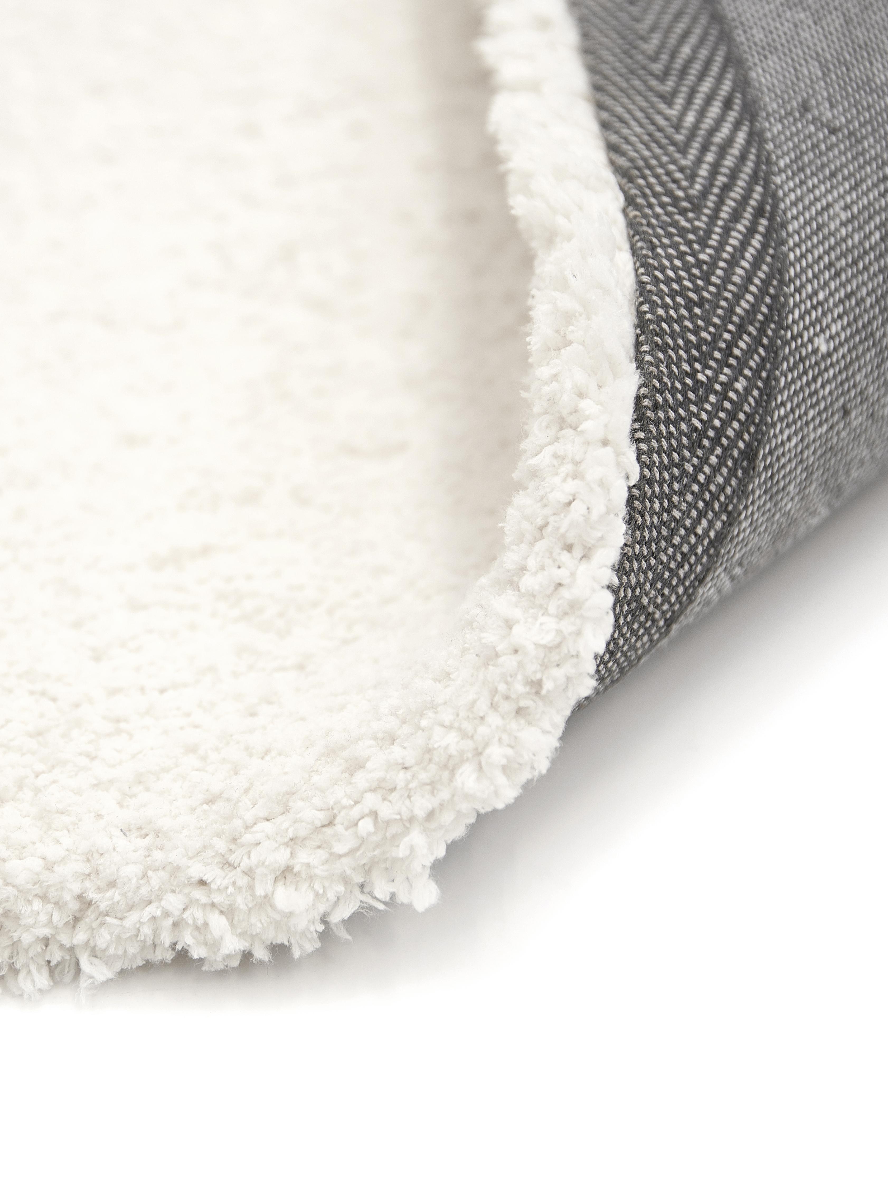 Flauschiger Hochflor-Teppich Leighton in Creme, Flor: 100% Polyester (Mikrofase, Creme, B 300 x L 400 cm (Grösse XL)