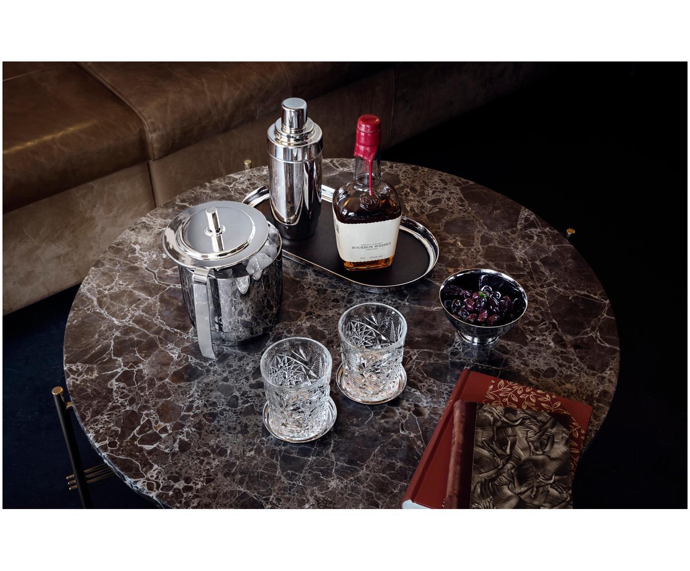 Eiseimer-Set Manhattan, 2-tlg., Edelstahl, hochglanzpoliert, Edelstahl, Verschiedene Grössen