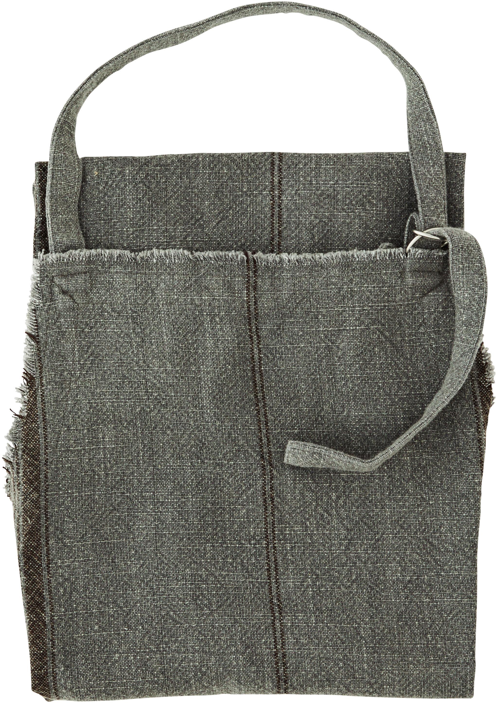 Baumwoll-Schürze Ripo in Dunkelgrau meliert, 100% Baumwolle, Dunkelgrau, meliert, Schwarz, 65 x 85 cm