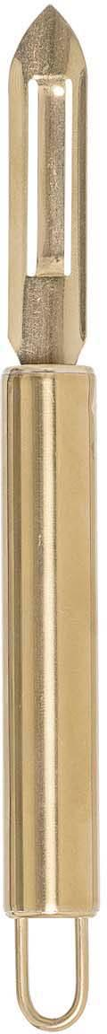 Schilmesje Mingolet, Gecoat edelstaal, Messingkleurig, L 20 cm
