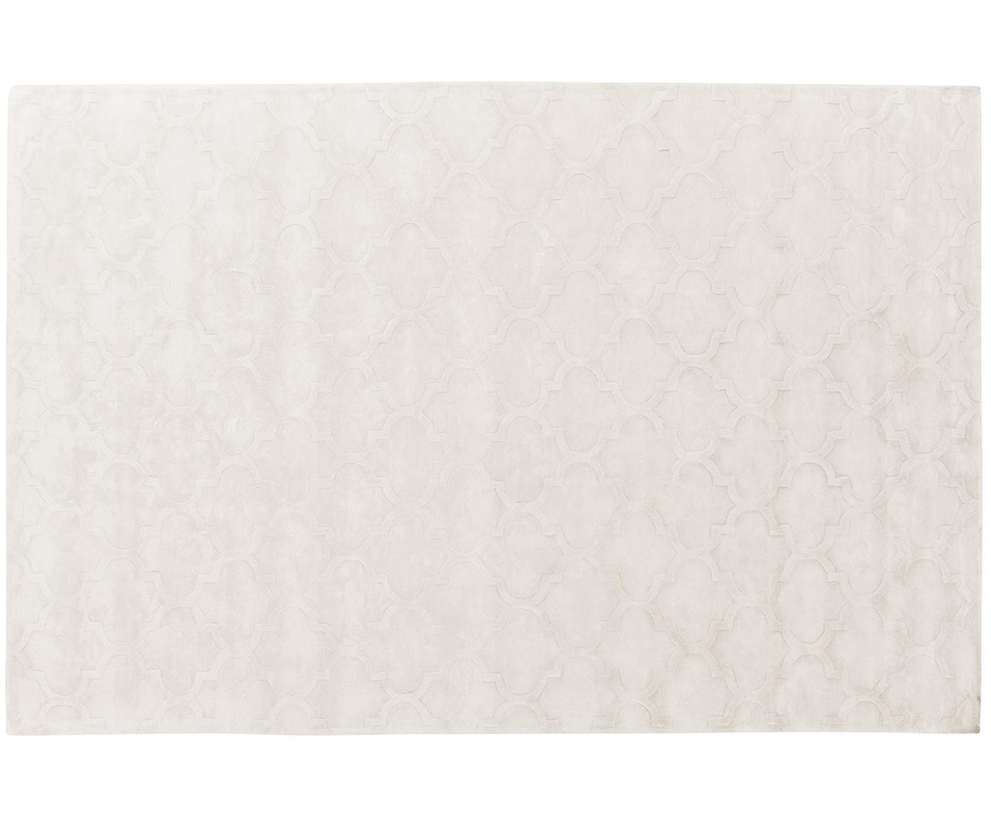 Ręcznie tuftowany dywan z wiskozy Magali, Kremowy, S 200 x D 300 cm
