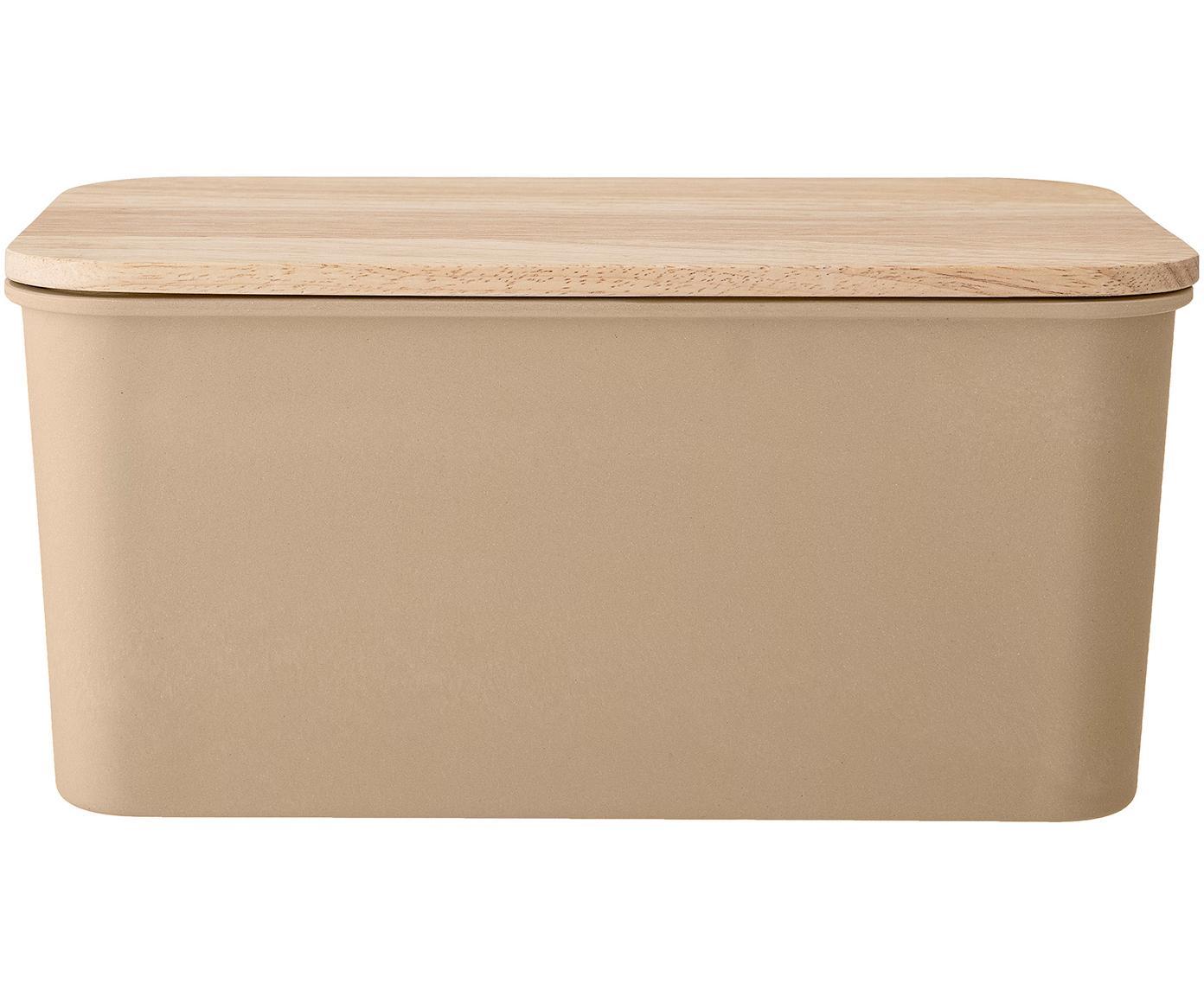Brotkasten Java, Deckel: Gummibaumholz, Braun, 35 x 17 cm