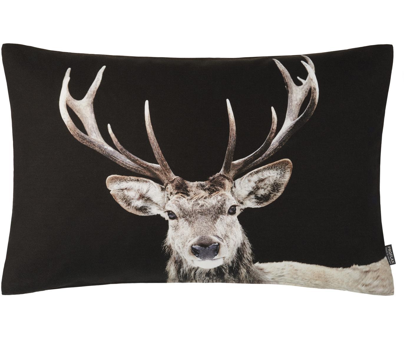 Poszewka na poduszkę Pavel, Bawełna, Czarny, odcienie beżowego, S 40 x D 60 cm