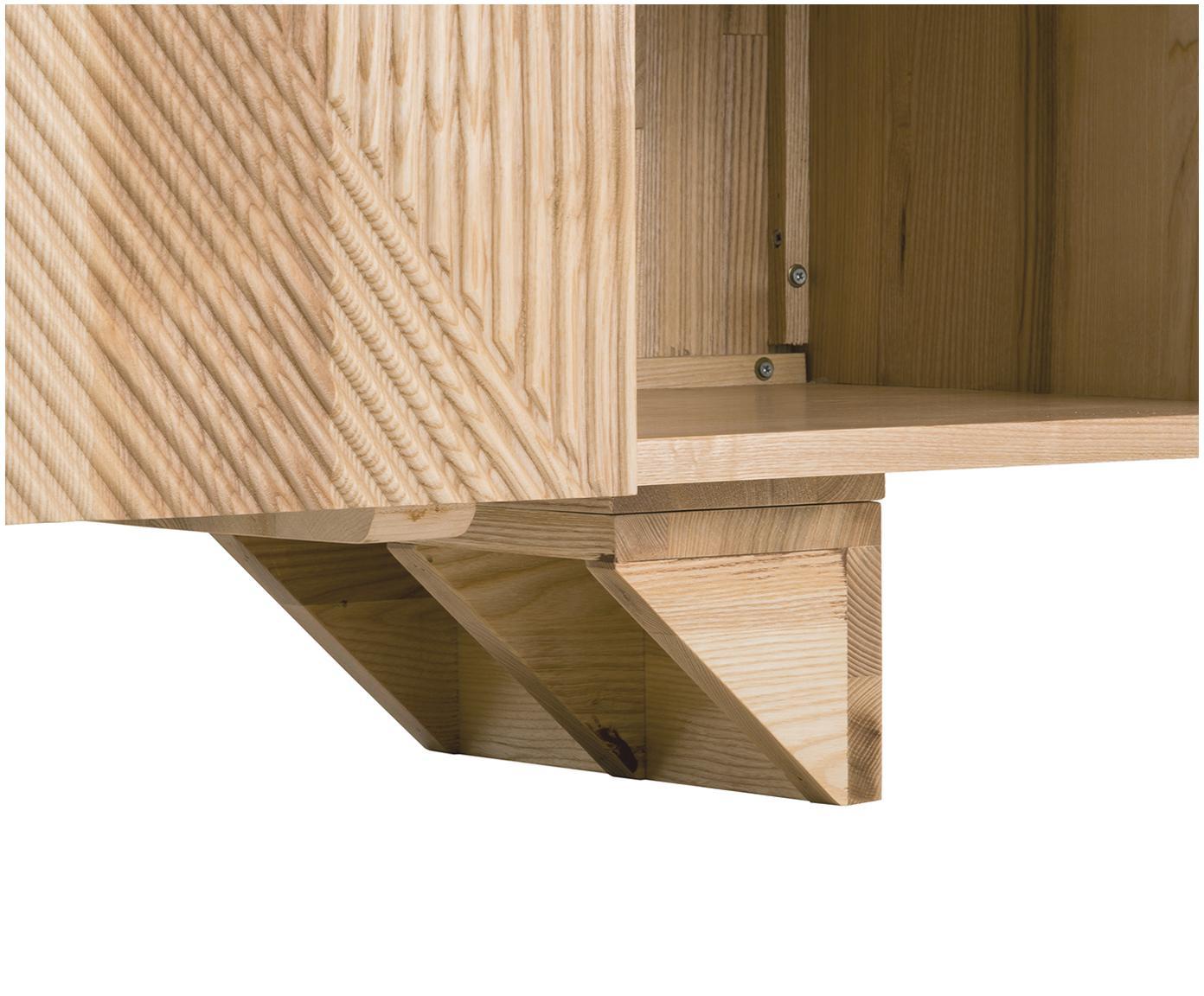 Komoda z litego drewna Louis, Lite drewno jesionowe, lakierowane, Drewno jesionowe, S 177 x W 75 cm