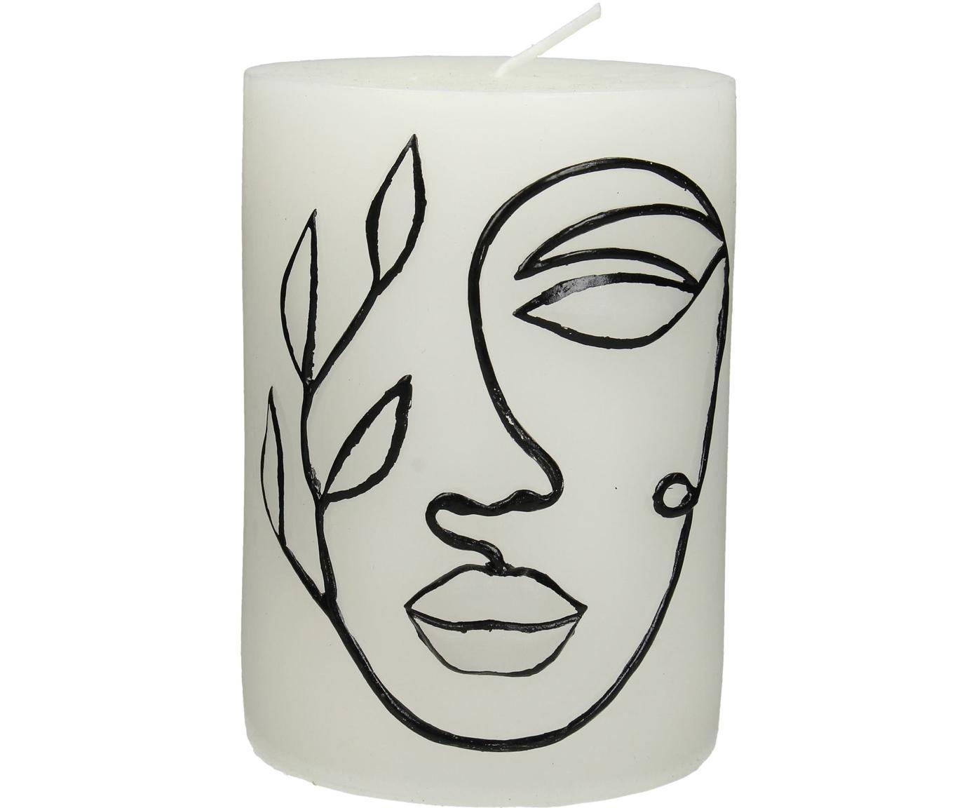 Candela profumata Face, Cera, Bianco, nero, Ø 8 x Alt. 10 cm