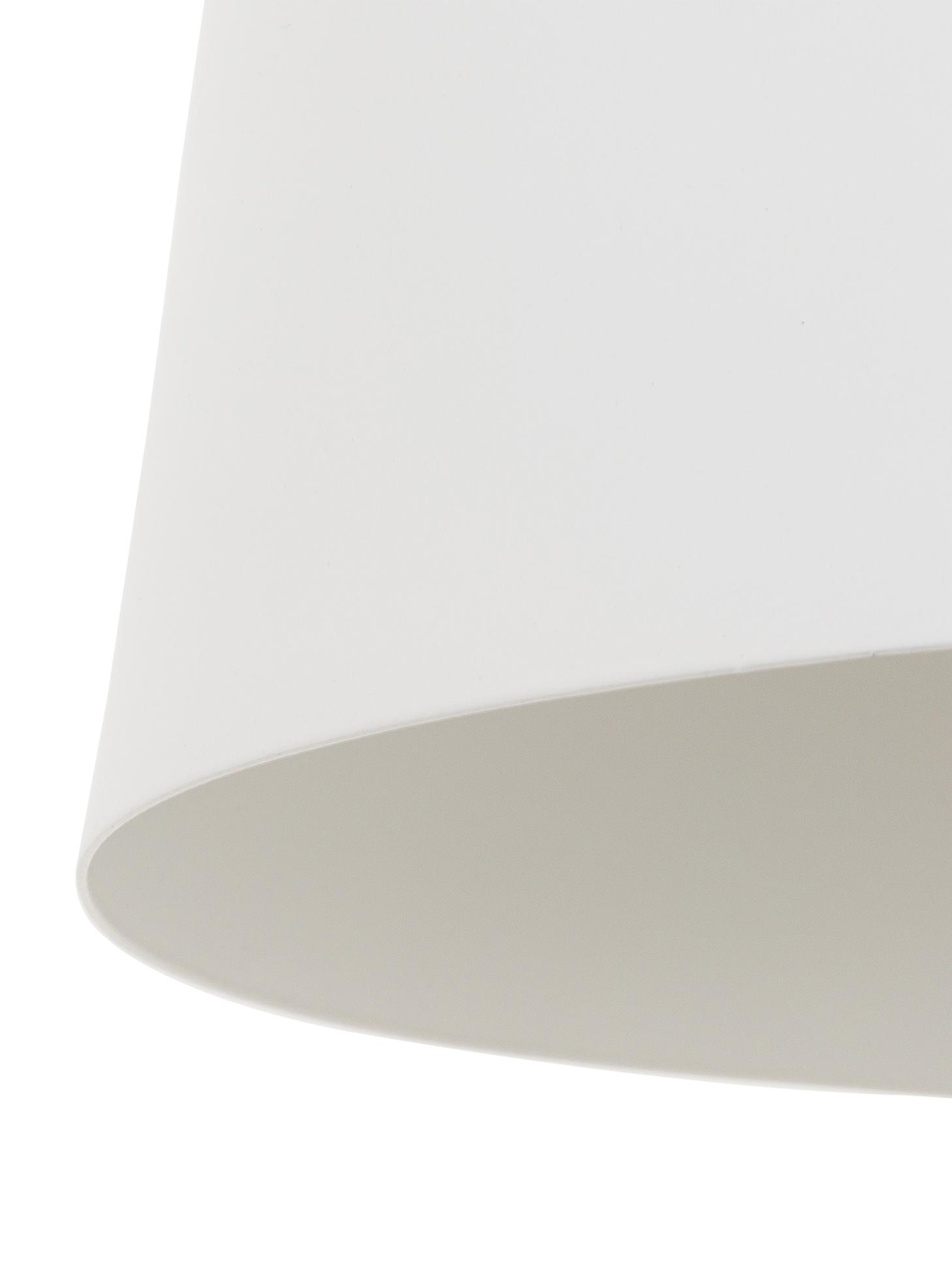 Scandi hanglamp Malm, Lampenkap: metaal, hout, Baldakijn: metaal, Wit, Ø 30 x H 26 cm