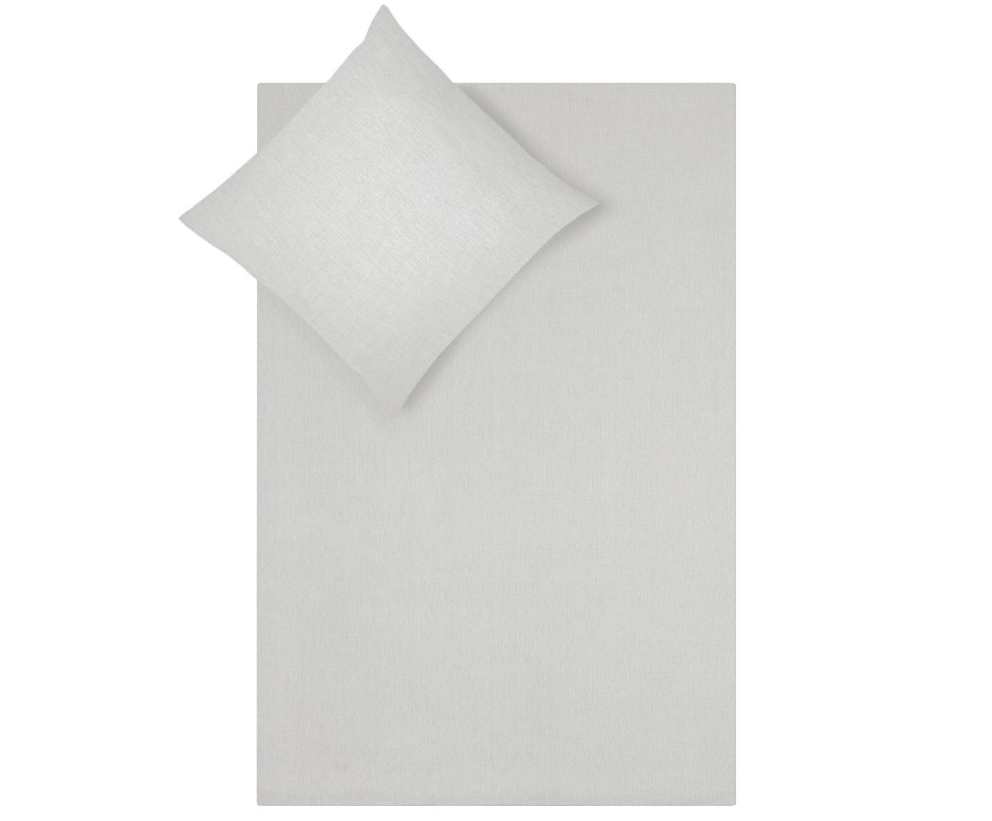 Pościel z bawełny z efektem sprania Arlene, Jasny szarobeżowy, 135 x 200 cm