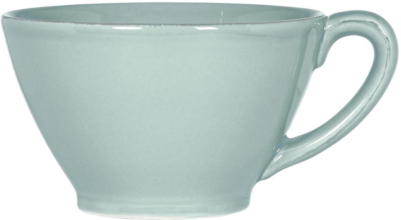 XL-Tasse Constance in Mint im Landhaus Style, Steingut, Mint, Ø 15 x H 9 cm