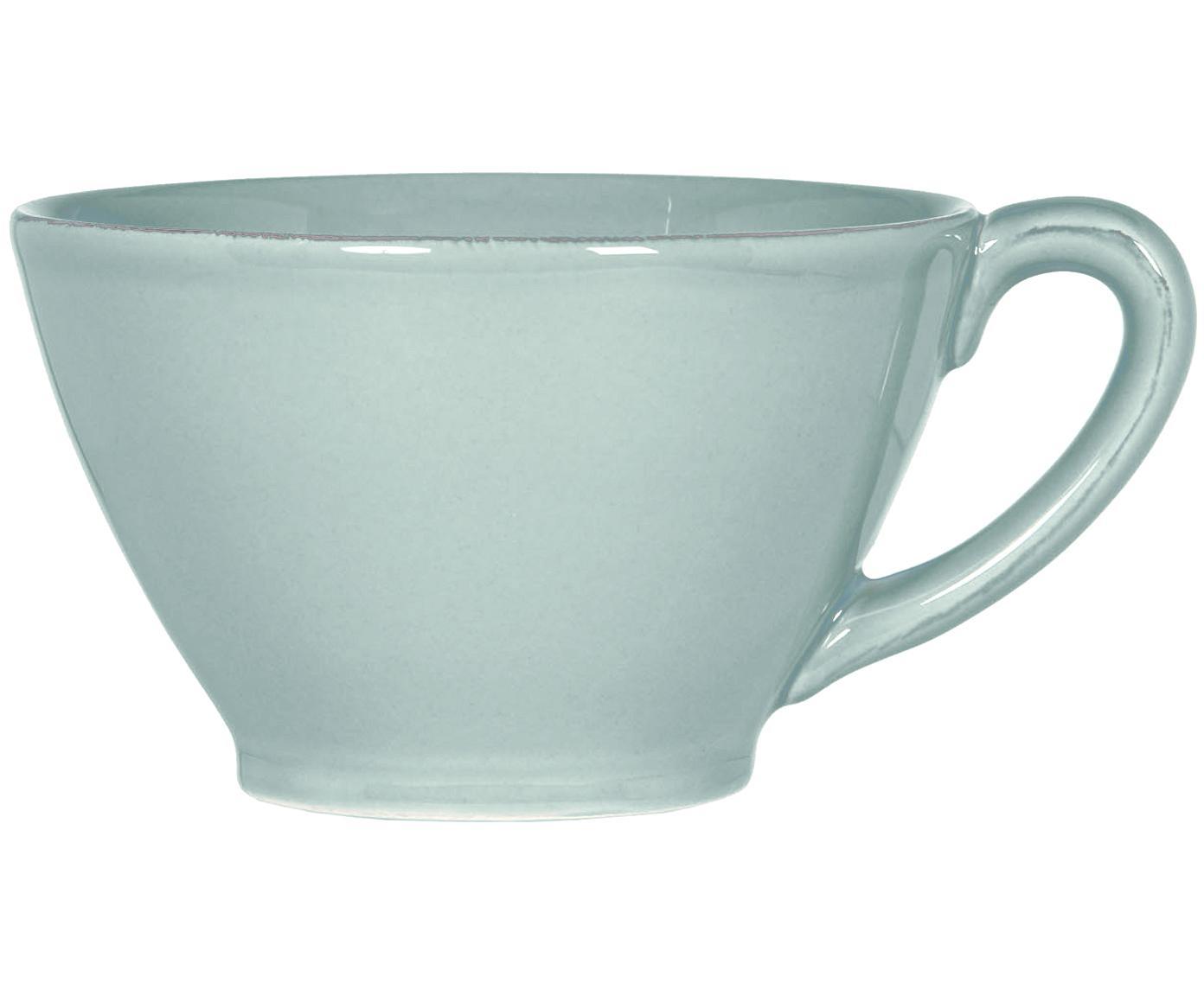 Tazza da te in menta Constance, Gres, Verde menta, Ø 18 x Alt. 9 cm