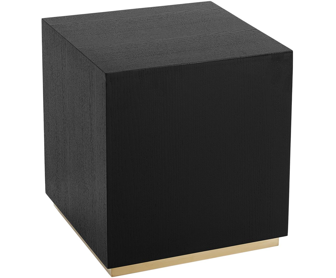 Tavolino quadrato nero Clarice, Nero, Larg. 45 x Alt. 50 cm