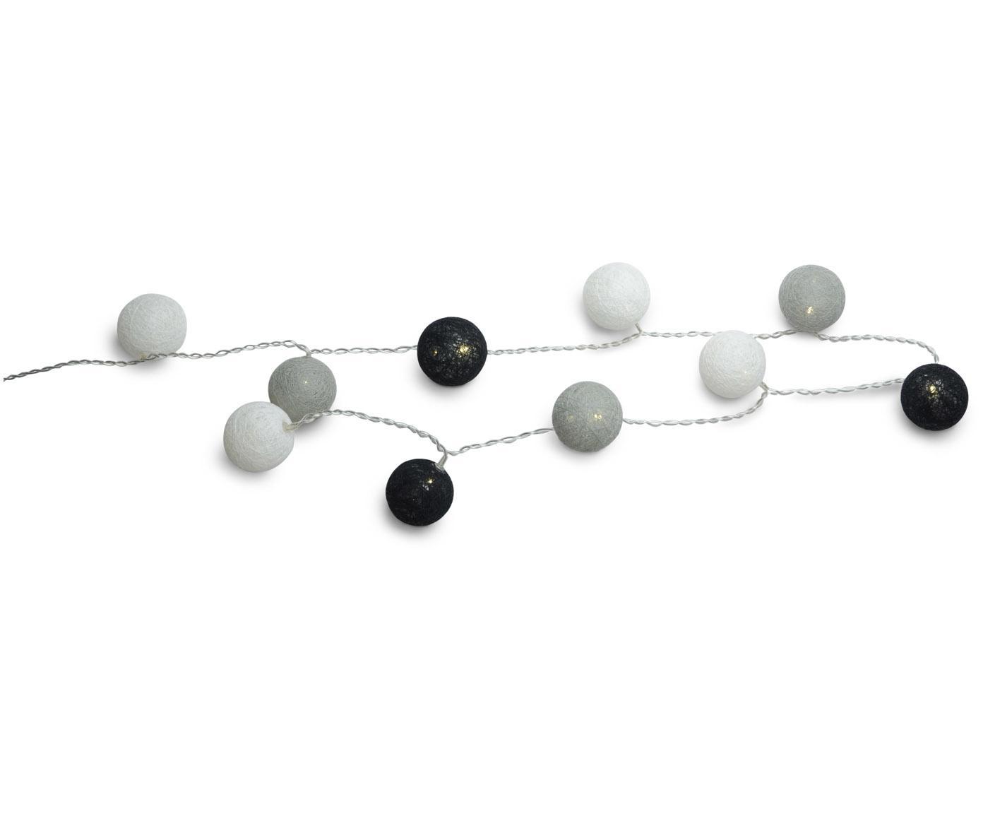 Lichtslinger Ball, Kunststof, textiel, Grijs, zwart, wit, 150 cm