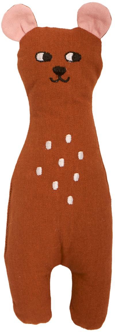 Przytulanka z bawełny organicznej Bear, Brązowy, S 8 x W 25 cm