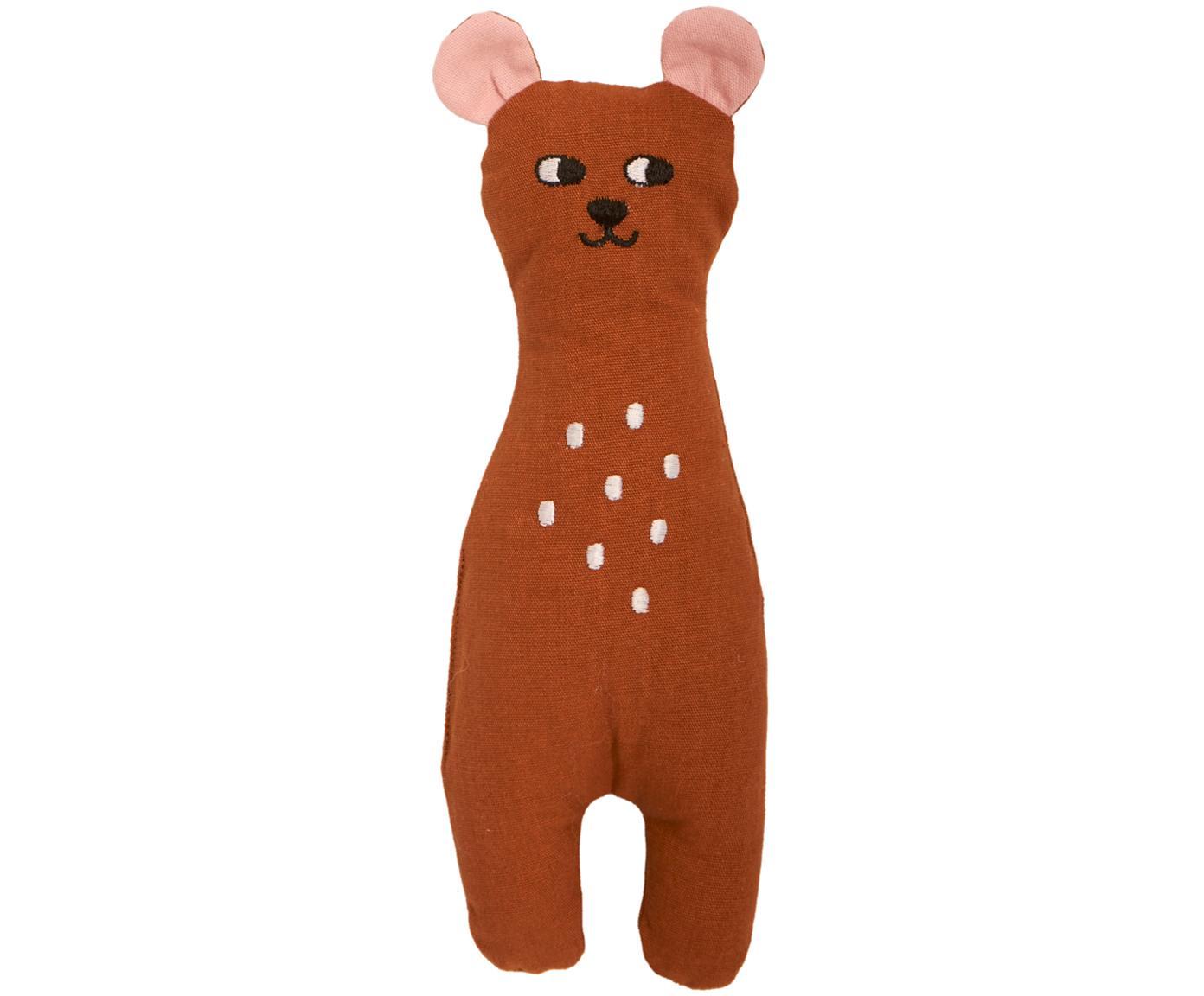 Peluche de algodón ecológico Bear, Marrón, An 8 x Al 25 cm