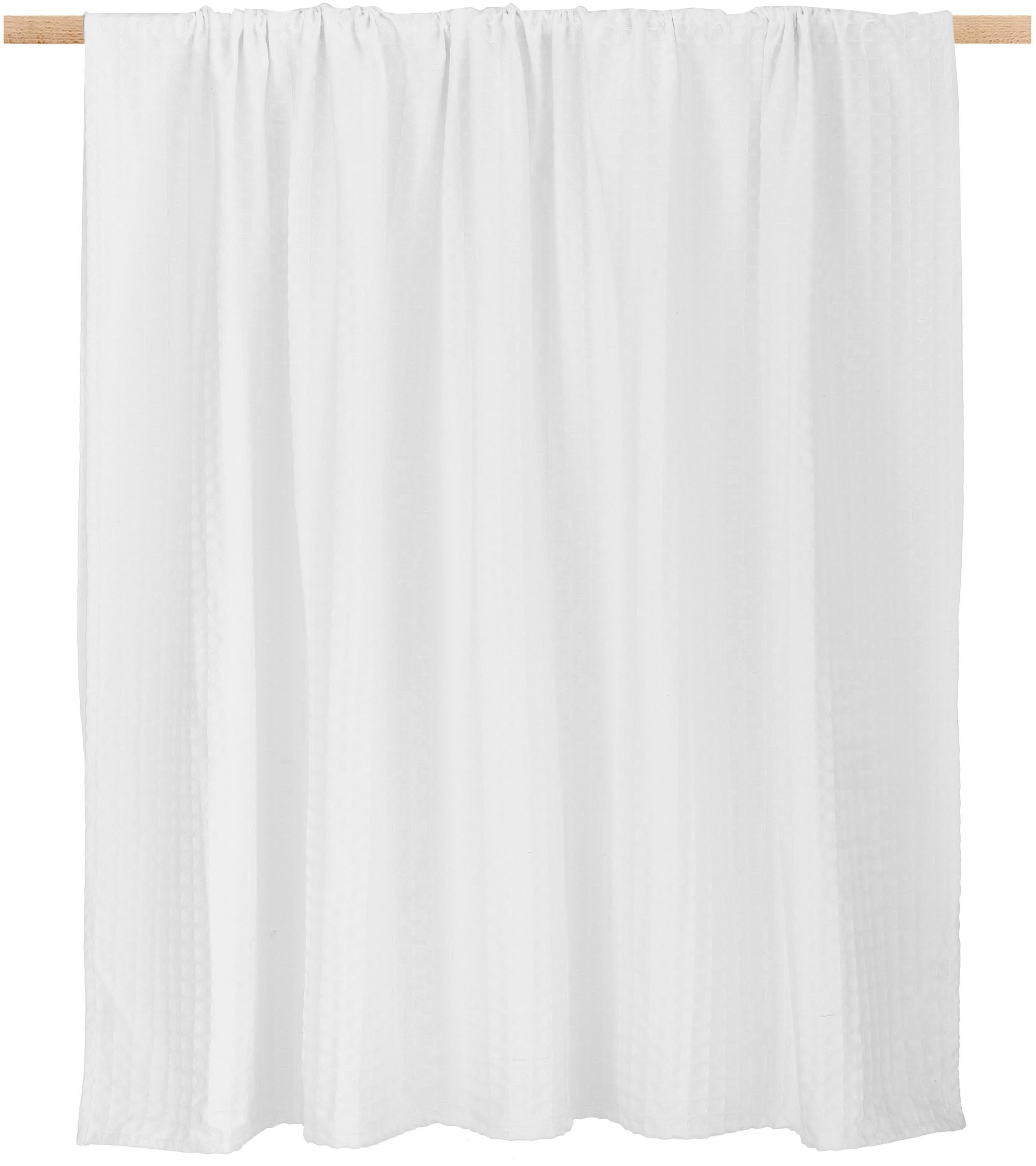 Waffelpiqué-Tagesdecke Panal, 100% Baumwolle, Weiss, 180 x 260 cm