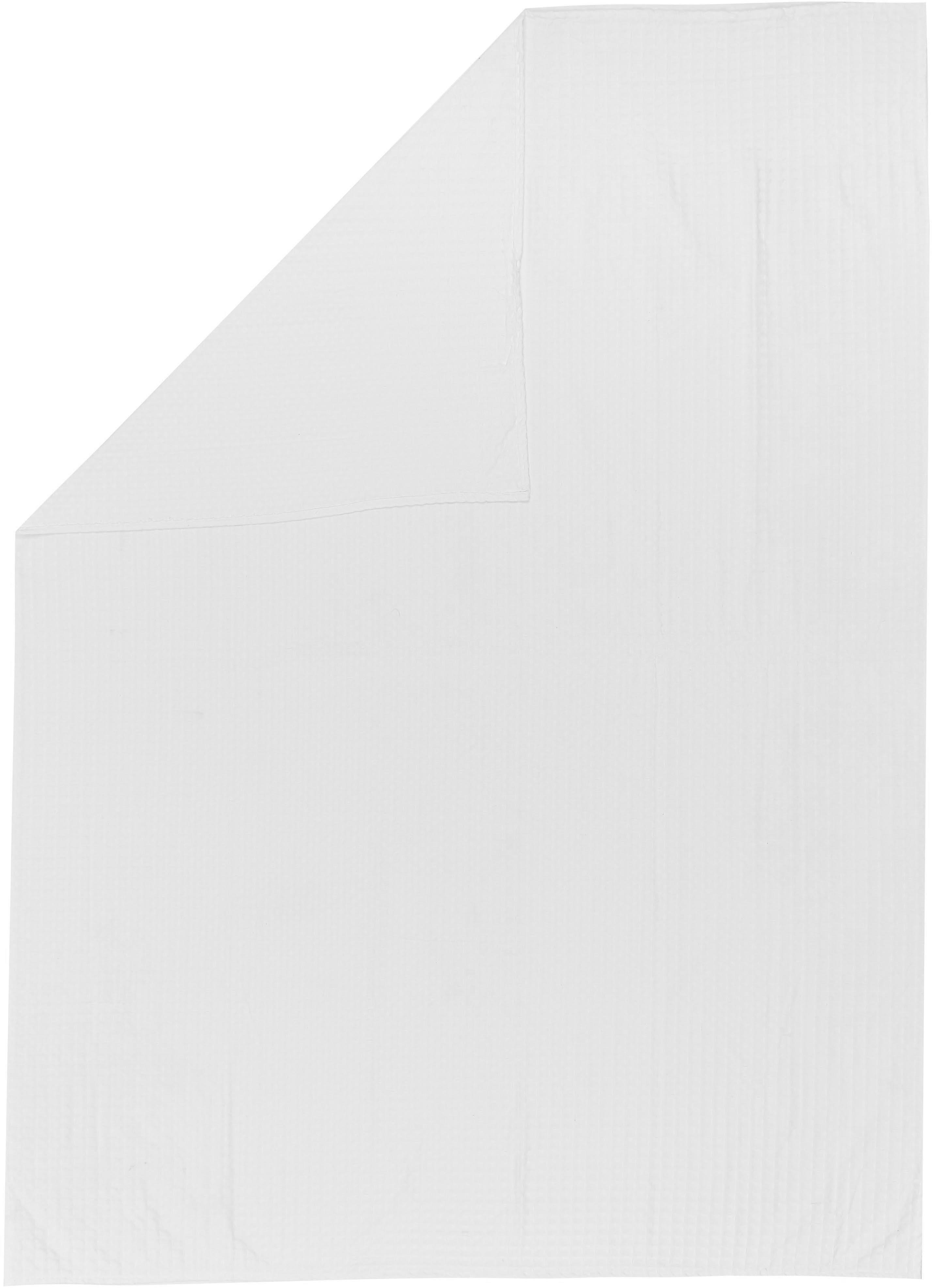 Narzuta z piki Panal, Bawełna, Biały, S 180 x D 260 cm