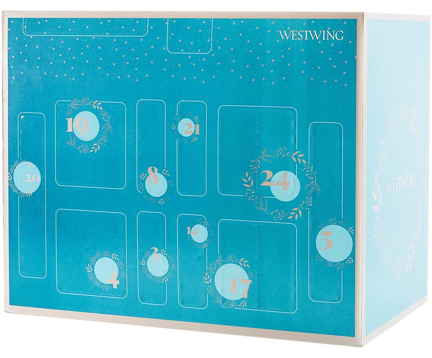 Kalendarz adwentowy Westwing, Turkusowy, S 57 x W 47 cm