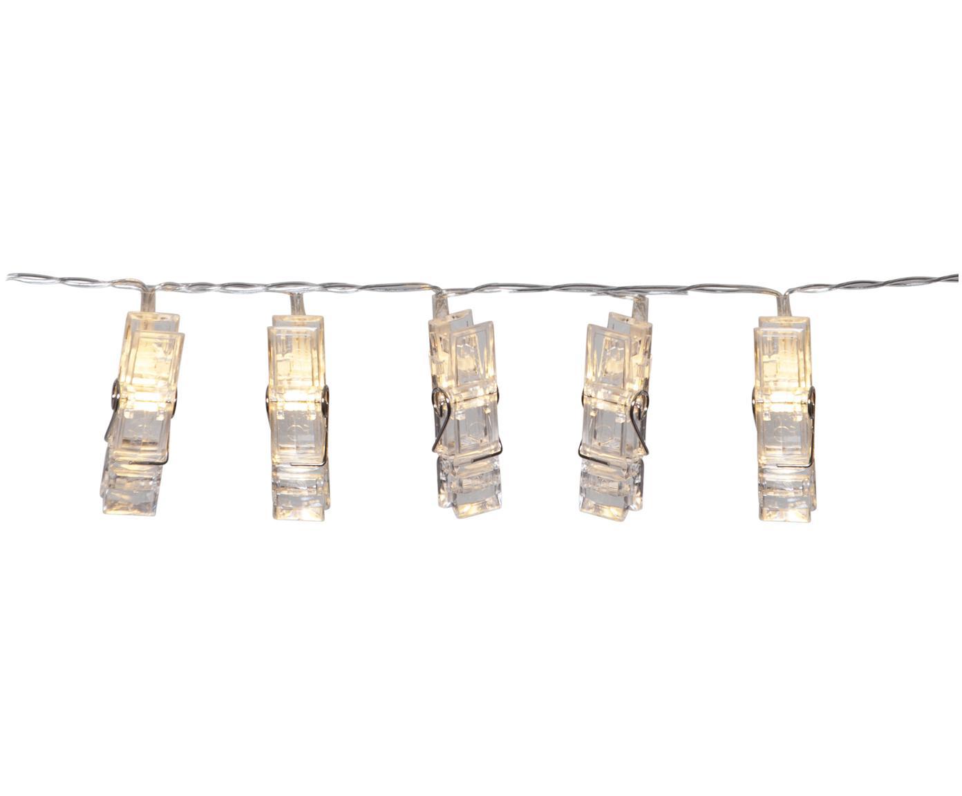 Girlanda świetlna LED Clippy, 135 cm, Tworzywo sztuczne, Transparentny, D 135 cm