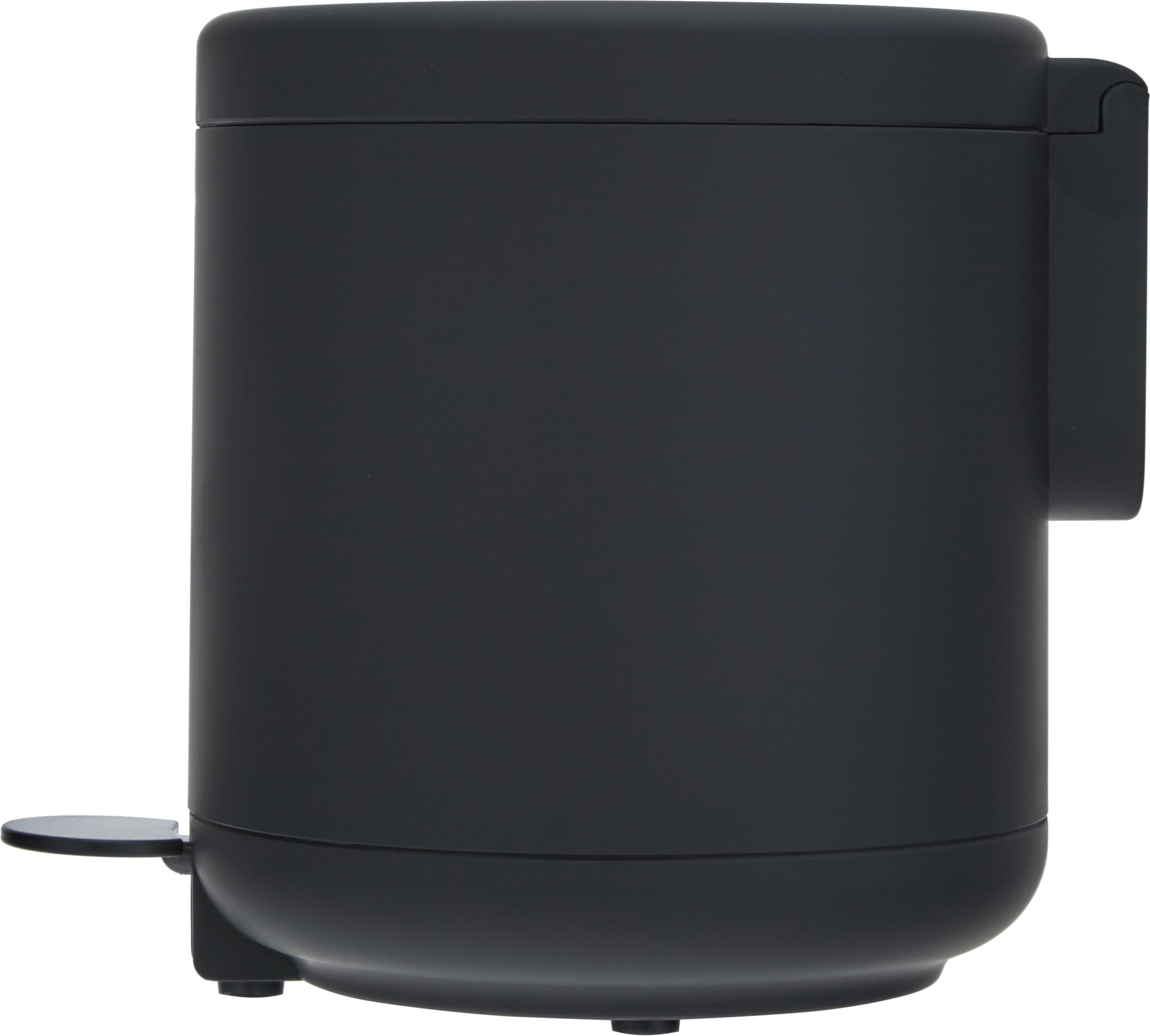 Kosz na śmieci Omega, Tworzywo sztuczne (ABS), Czarny, matowy, Ø 20 x W 22 cm