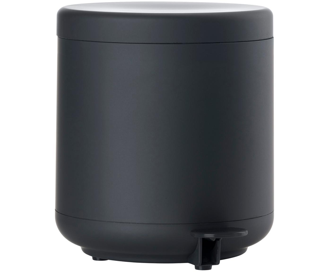 Afvalemmer Omega, Kunststof (ABS), Mat zwart, Ø 20 x H 22 cm