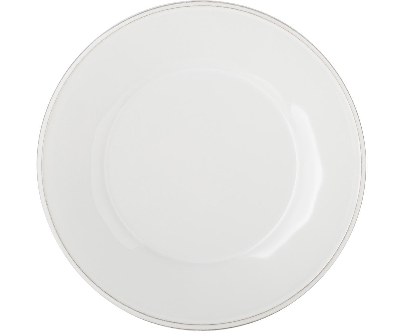 Piatto da colazione bianco Constance 2 pz, Ceramica, Bianco, Ø 24 cm