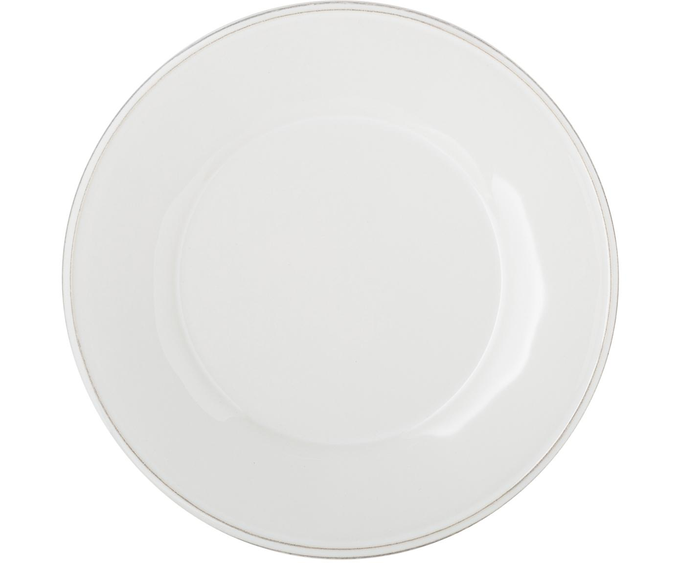 Talerz deserowy Constance, 2 szt., Ceramika, Biały, Ø 24 cm