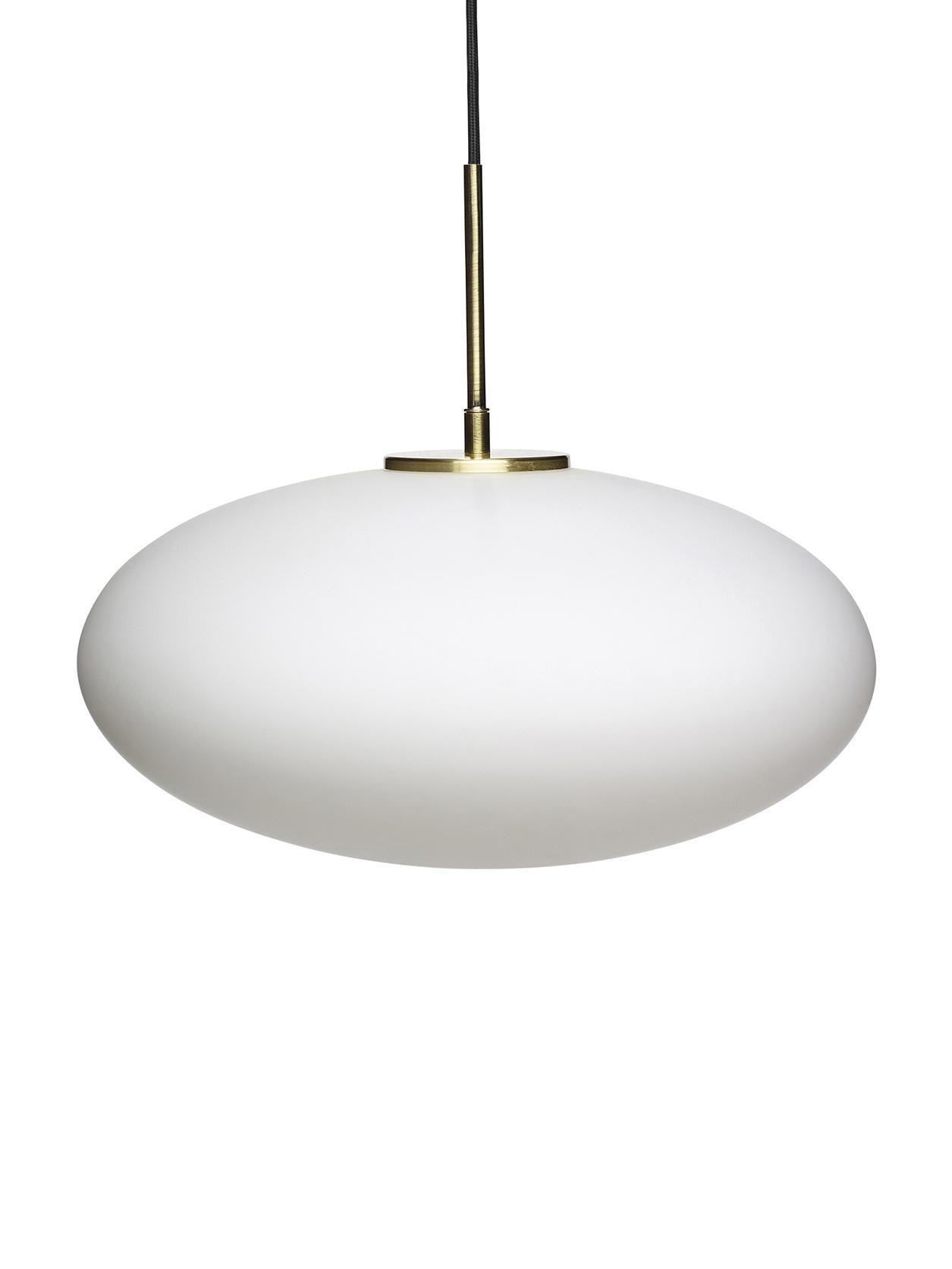 Lampa wisząca ze szkła opalowego Trivia, Biały opalowy, Ø 40 x W 32 cm