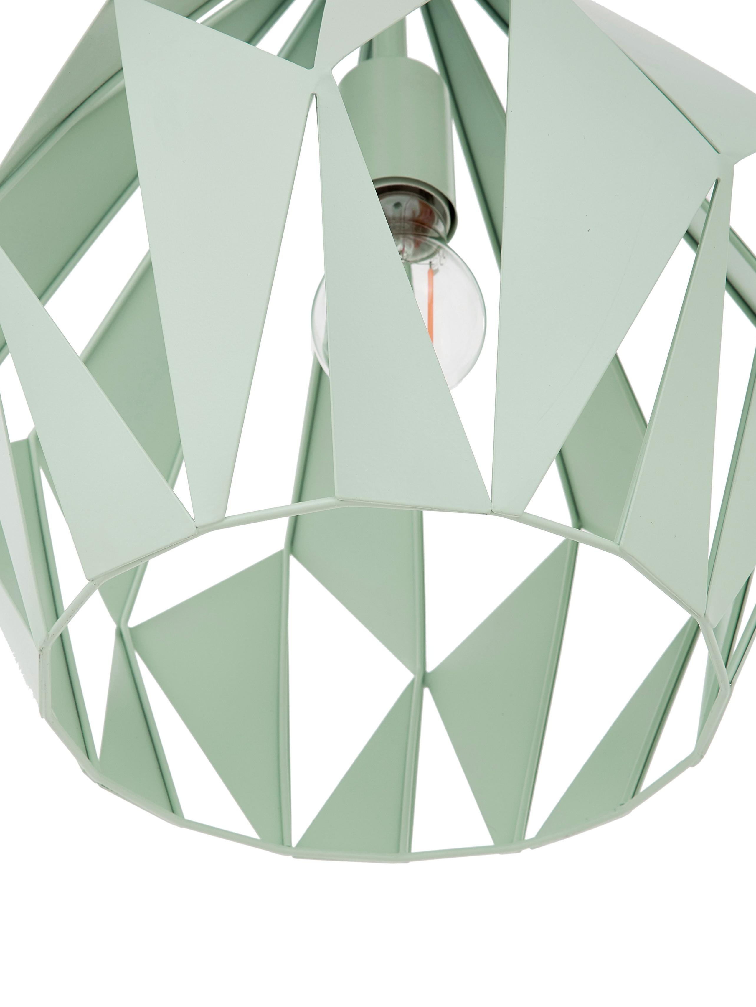 Skandi-Pendelleuchte Carlton, Hellgrün, Ø 31 x H 40 cm