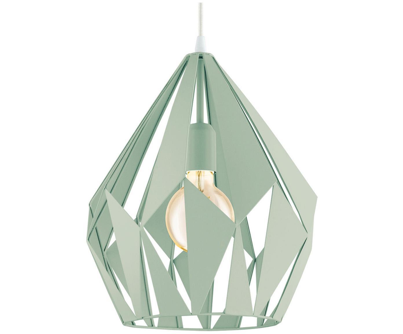 Lámpara de techo Carlton, estilo escandinavo, Cable: plástico, Verde claro, Ø 31 x Al 40 cm