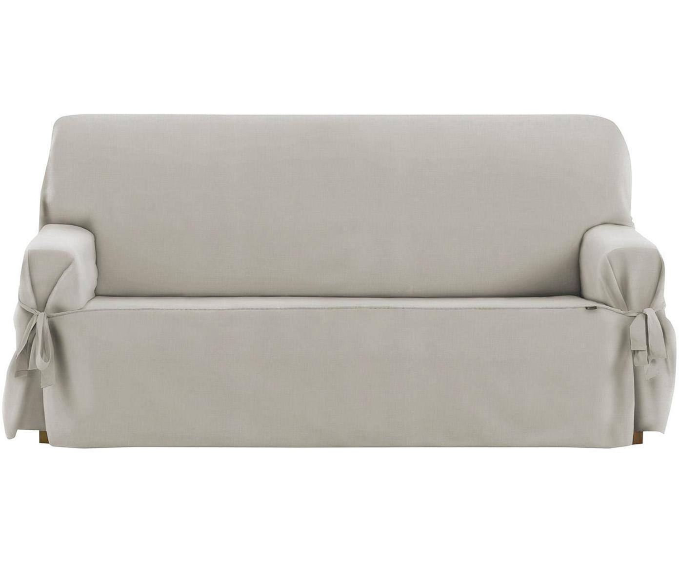 Funda de sofá Levante, 50%algodón, 50%poliéster, Gris verdoso, 2 plazas (180 x 110cm)
